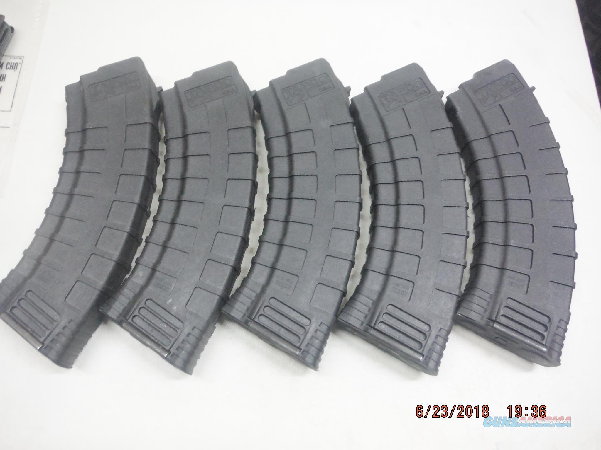 5 Tapco AK-47 / AK47 Magazine 7.62X39 30rd poly Mags AK47 New  Non-Guns > Magazines & Clips > Rifle Magazines > AK Family