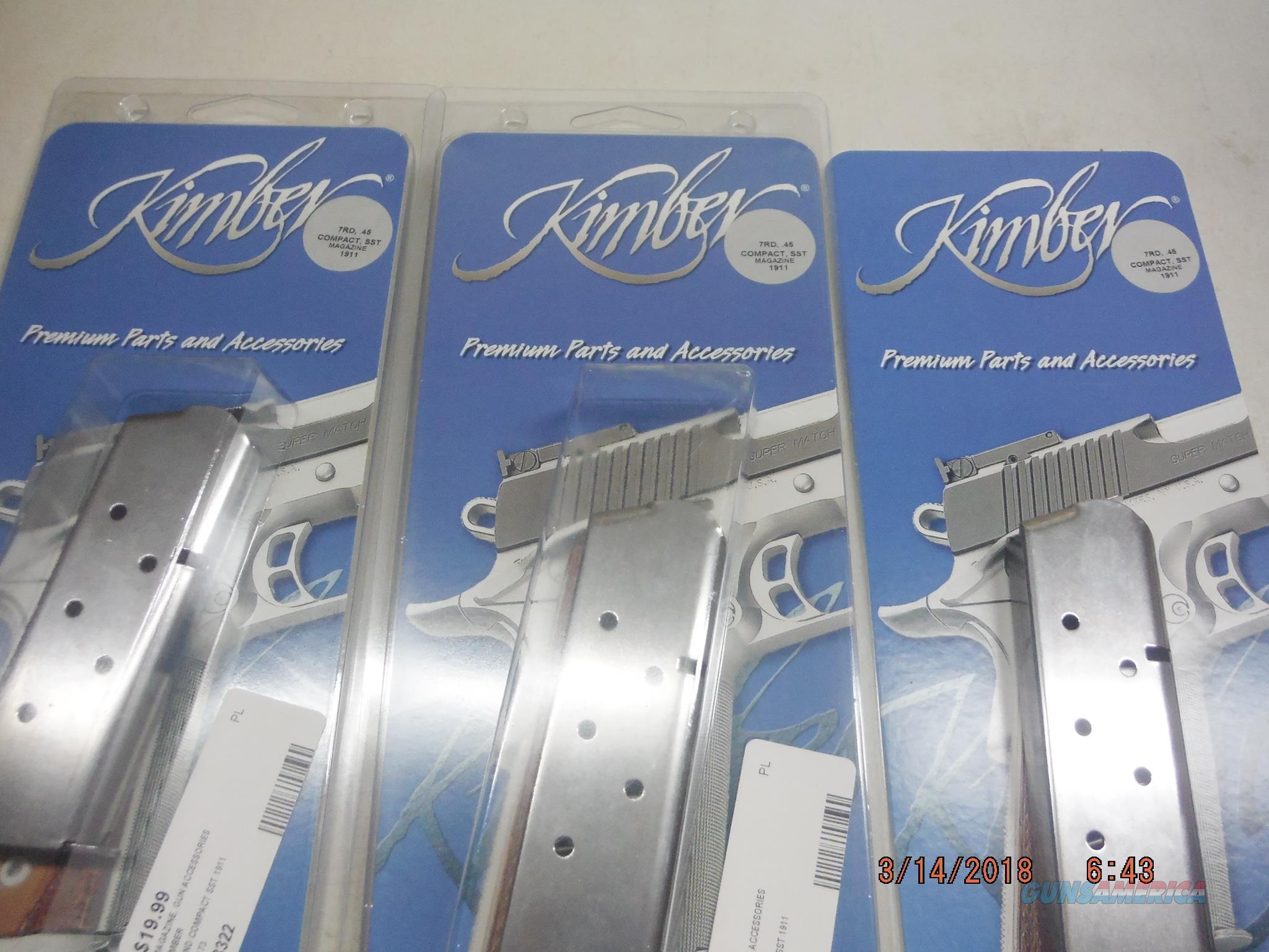 3 KIMBER 1911 Compact Mag 45 ACP 7Rd SS Factory Kimber  Non-Guns > Magazines & Clips > Pistol Magazines > 1911
