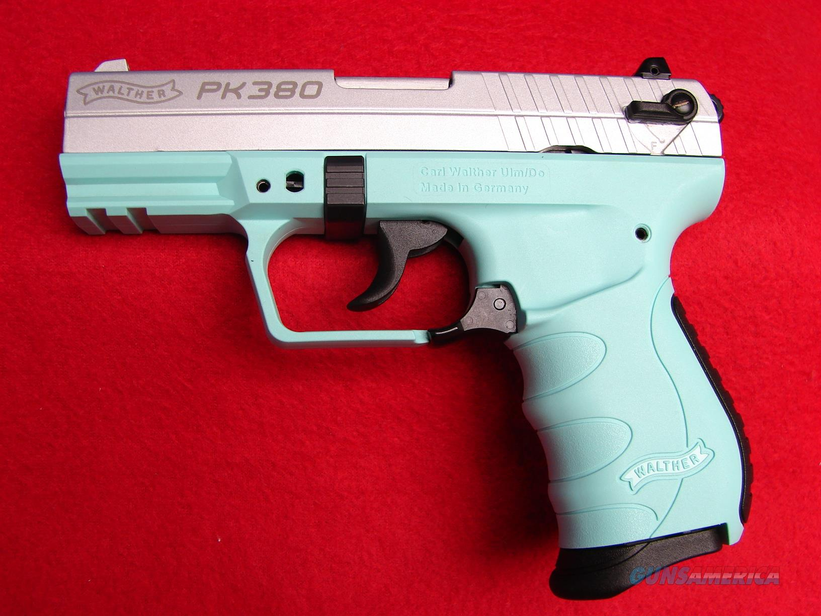 Walther - PK380 - Angel Blue Frame/Stainless Slide - .380 ACP - NIB  Guns > Pistols > Walther Pistols > Post WWII > PK380
