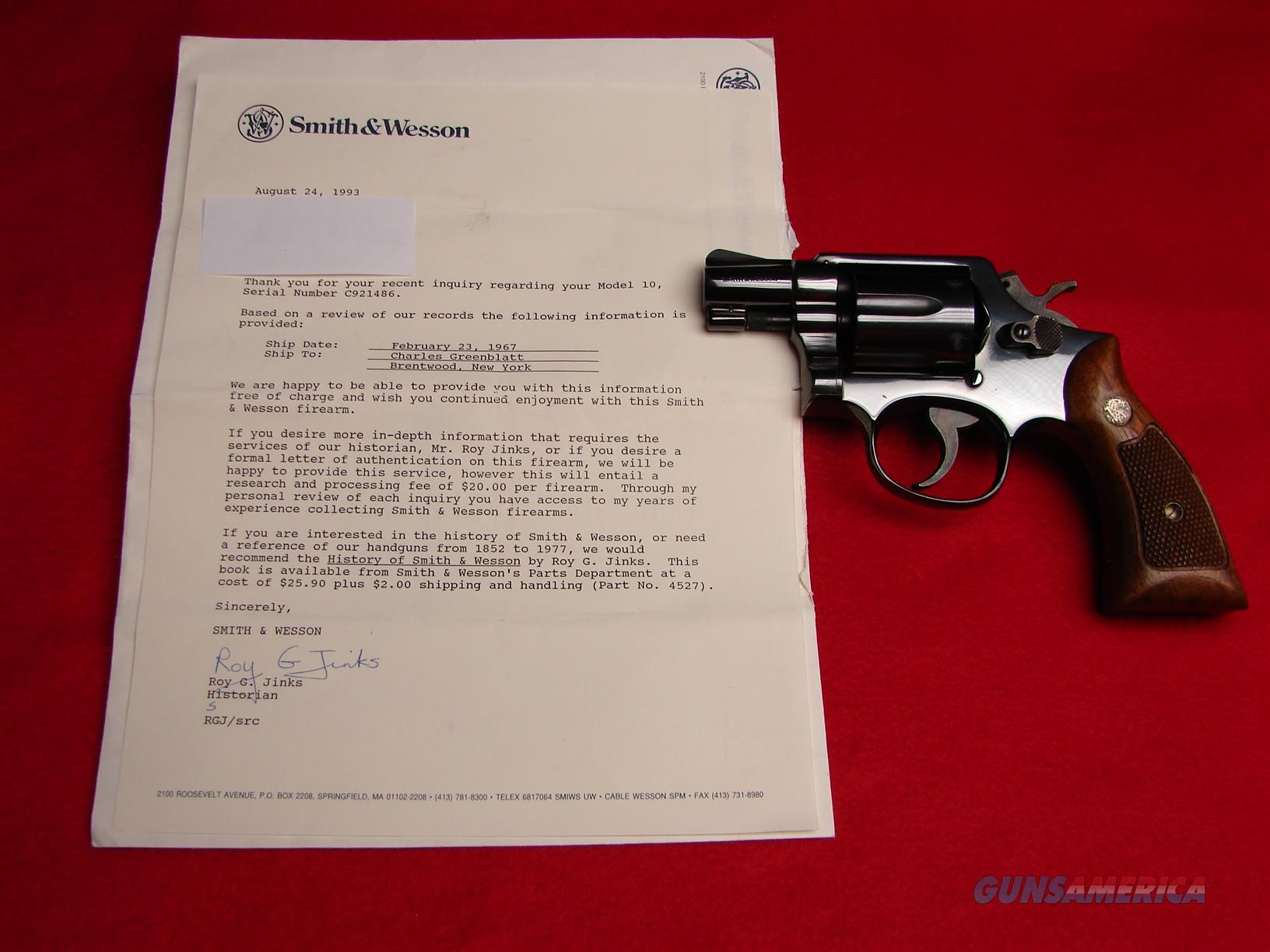 "Vintage Smith & Wesson Model 10-5  w/ 2"" Barrel - 38 Spl - Mfg - 1967 - Excellent Condition  Guns > Pistols > Smith & Wesson Revolvers > Model 10"