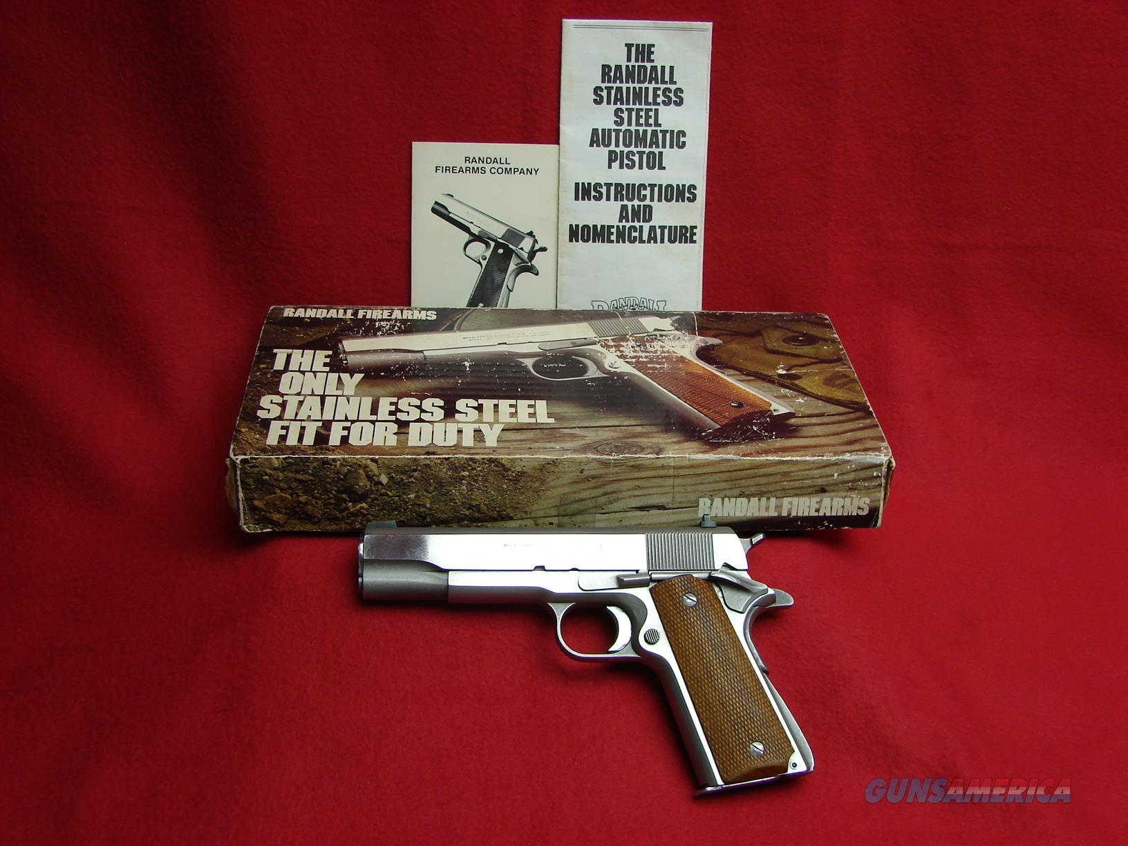 Randall 1911 - 45 acp- Service Model - with Original Factory Box and Papers - Used  Guns > Pistols > Randall Pistols