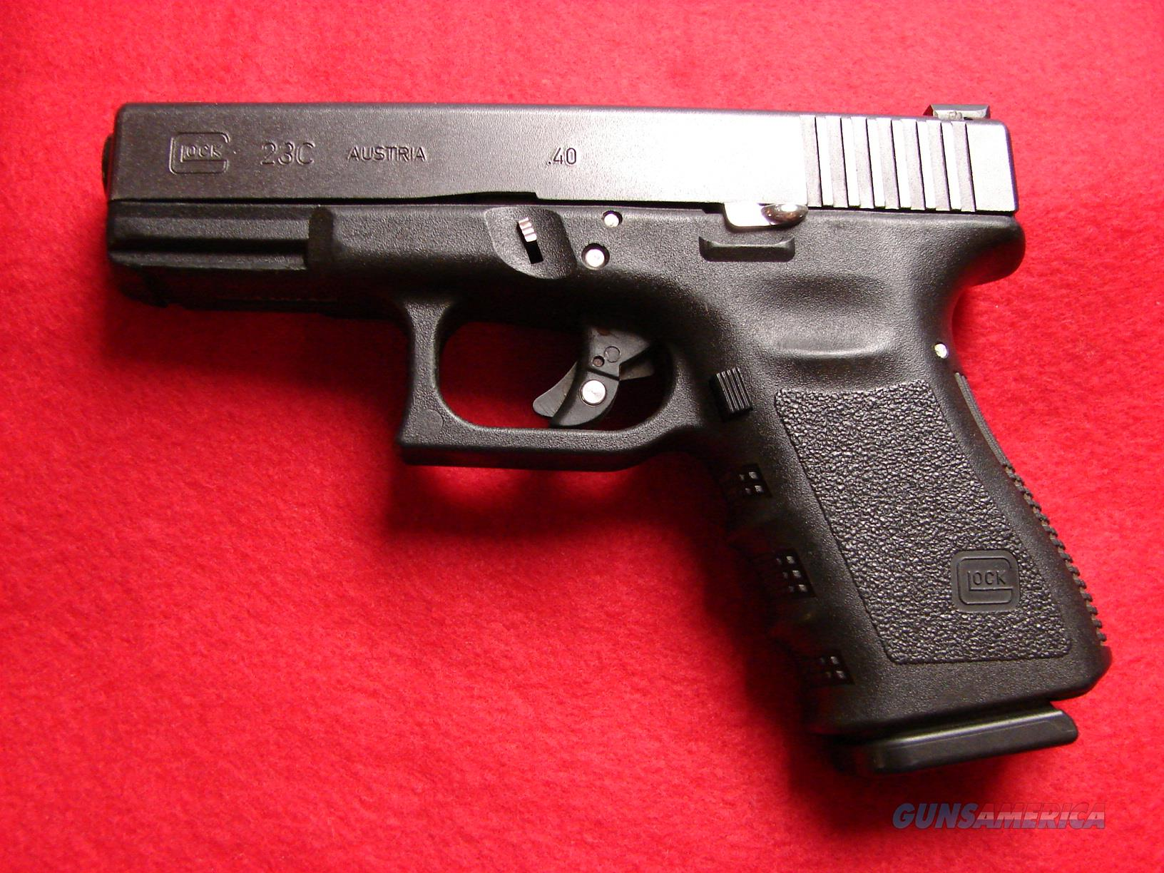 Glock Model 23C - 40 S&W with Factory Cut Compensated Barrel and Slide - Used  Guns > Pistols > Glock Pistols > 23