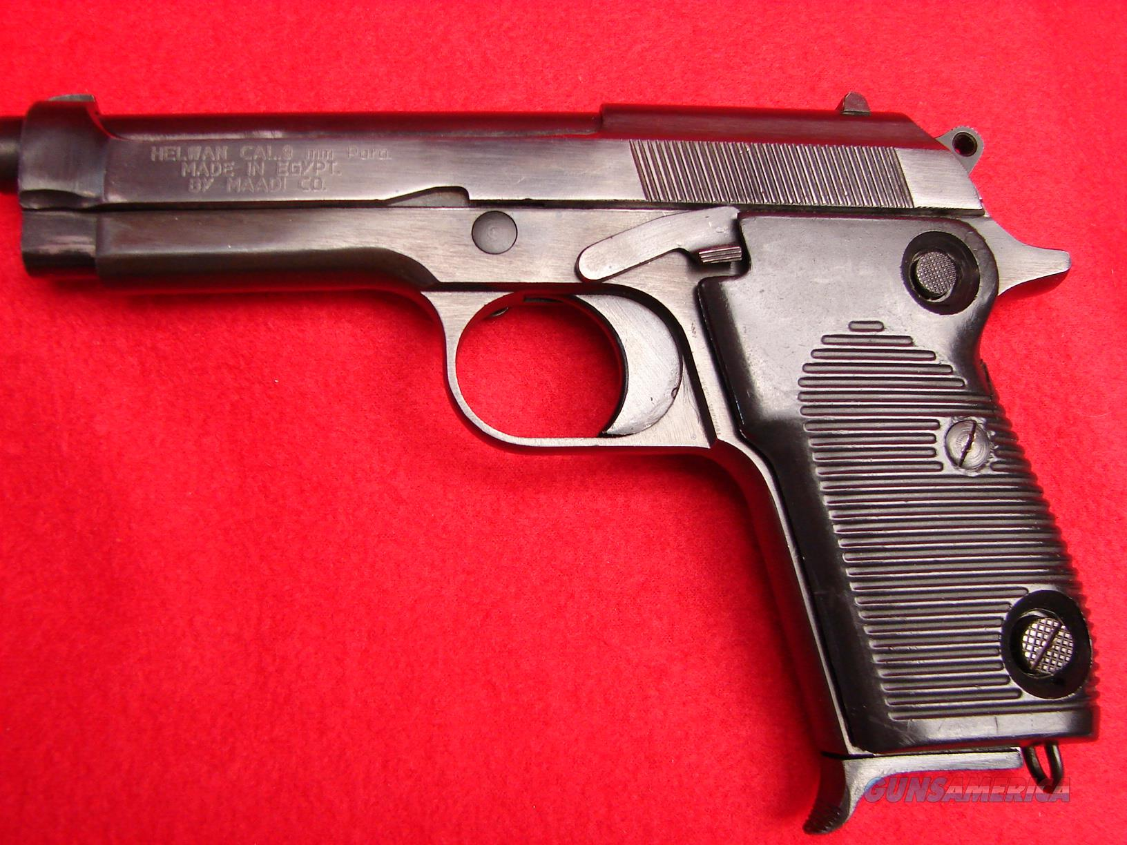 Helwan - Egyptian Made - 9mm Semi Automatic Pistol - Used  Guns > Pistols > H Misc Pistols