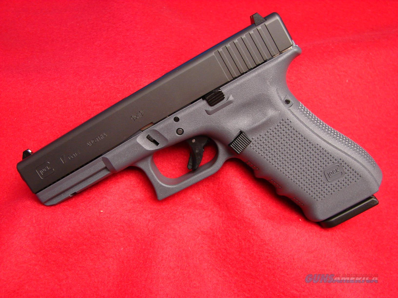NIB Glock 17 - Gen 4 with Gray Frame in 9 mm   Guns > Pistols > Glock Pistols > 17