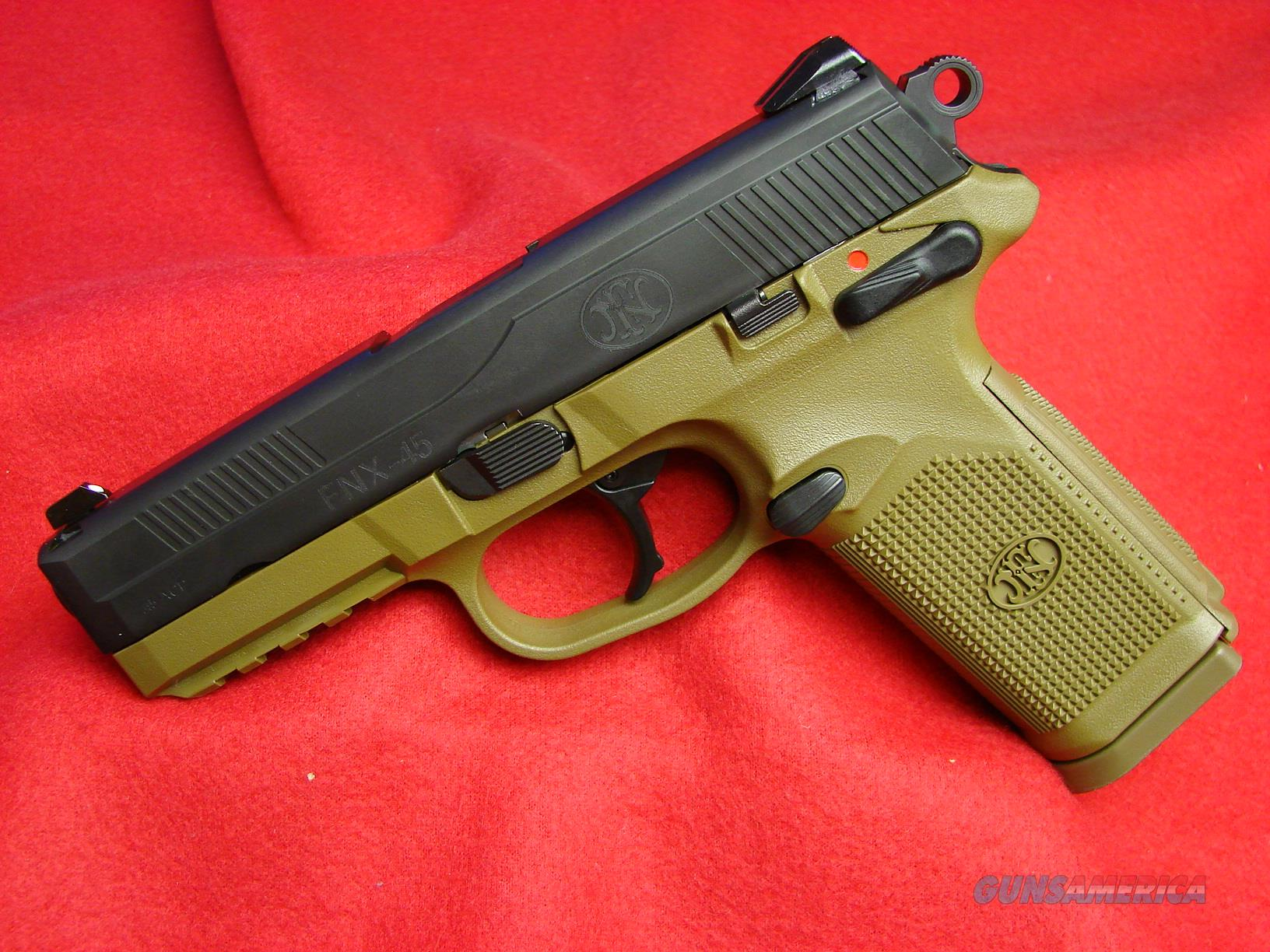 NIB - FNH - FNX 45acp in Dark Earth Frame with Blued Slide  Guns > Pistols > FNH - Fabrique Nationale (FN) Pistols > FNX