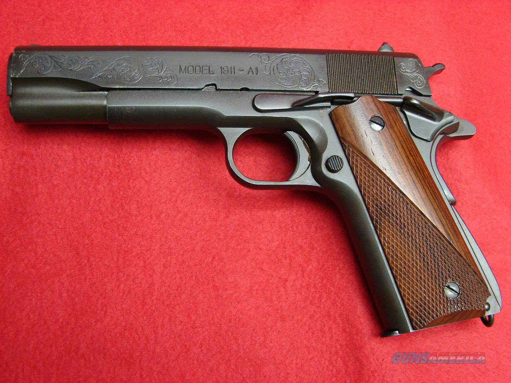 Springfield Armory Model 1911 - A1 - 45acp with Factory Engraved Slide - Used  Guns > Pistols > Springfield Armory Pistols > 1911 Type