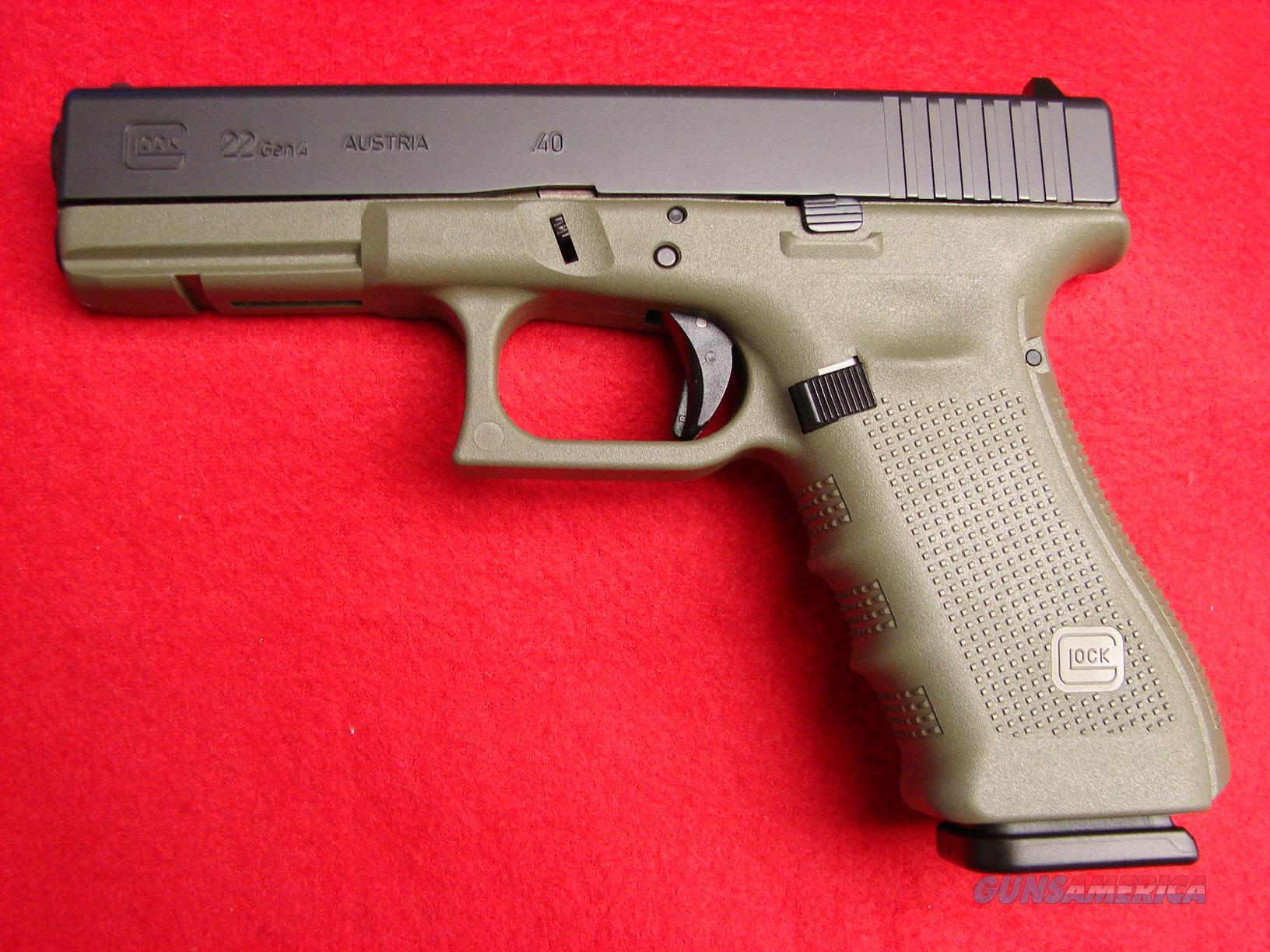 Glock 22 - Gen 4 - .40 S&W - Battle Field Green... for sale