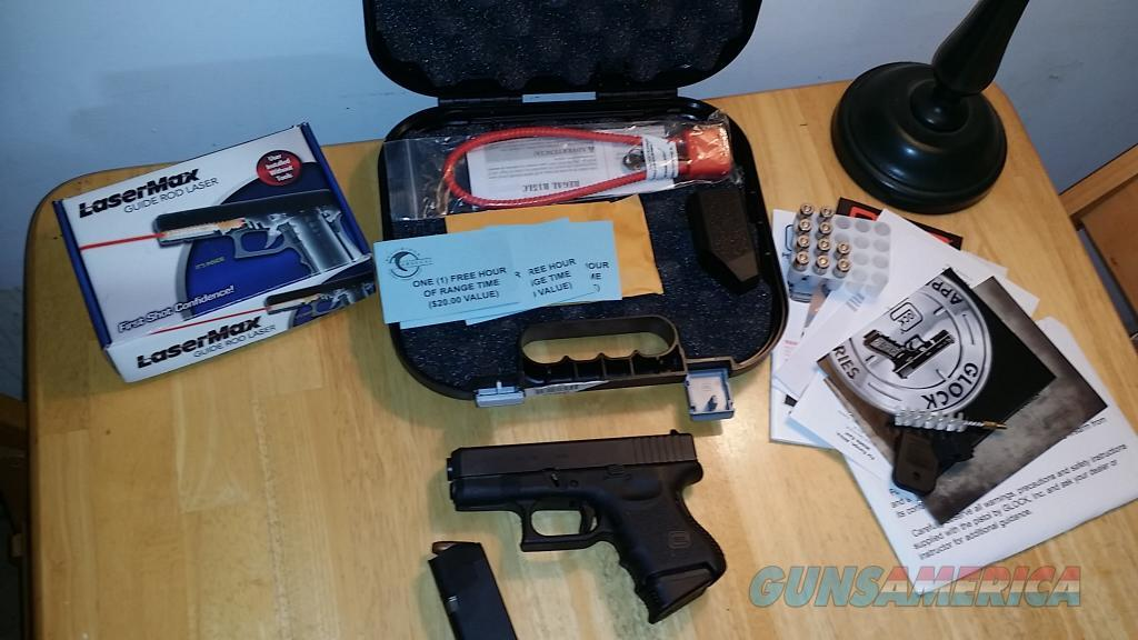 Glock 26, Gen 3 with LaserMax and Many Extras - Never Fired!  Guns > Pistols > Glock Pistols > 26/27