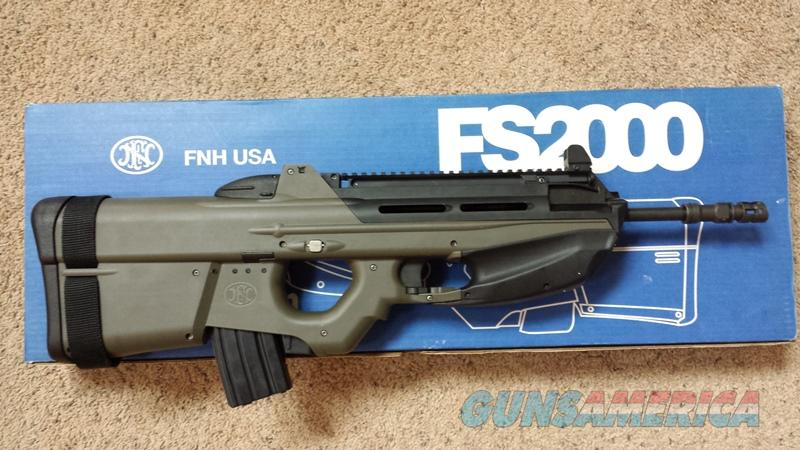 FN Herstal Belgium FS2000 223 5.56 x 45 OD Green  Guns > Rifles > FNH - Fabrique Nationale (FN) Rifles > Semi-auto > Other