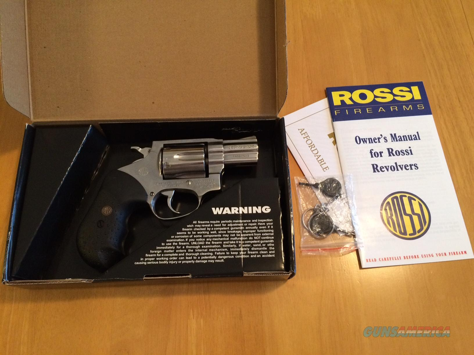 Rossi .357 Mag 2in 6 round stainless model R462. Includes two holsters!  Guns > Pistols > Rossi Revolvers