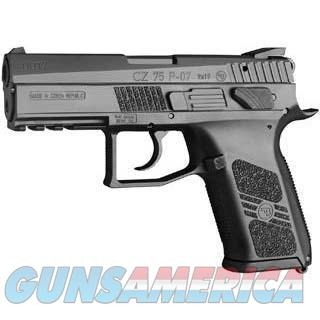 "CZ 75 P-07 DUTY 9MM 3.8"" 16RD BLK MAGAZINE SAFETY  Guns > Pistols > CZ Pistols"
