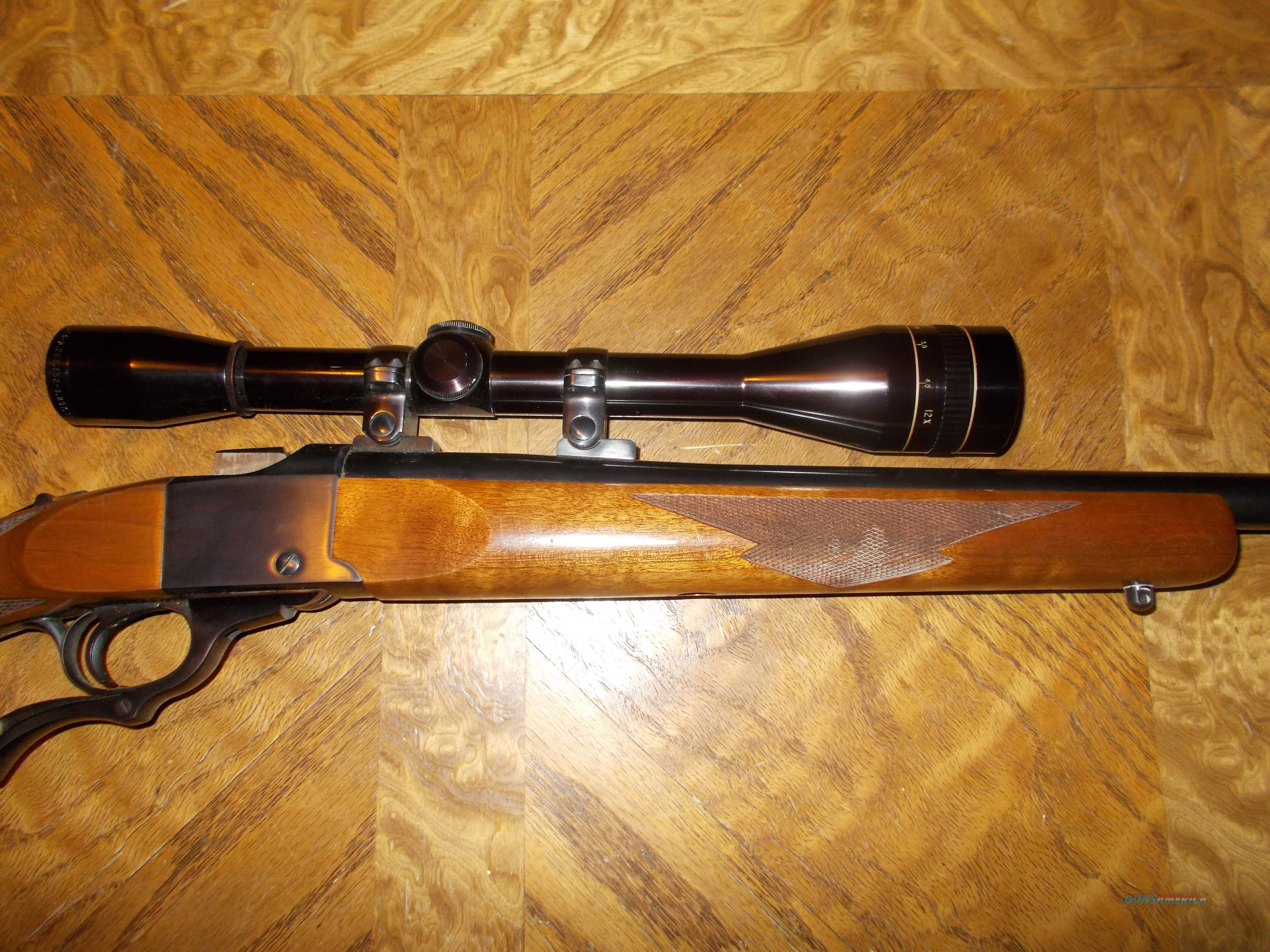 Ruger No 1 Varninter, 22-250, w/ 12X Leupold Scope  Guns > Rifles > Ruger Rifles > #1 Type