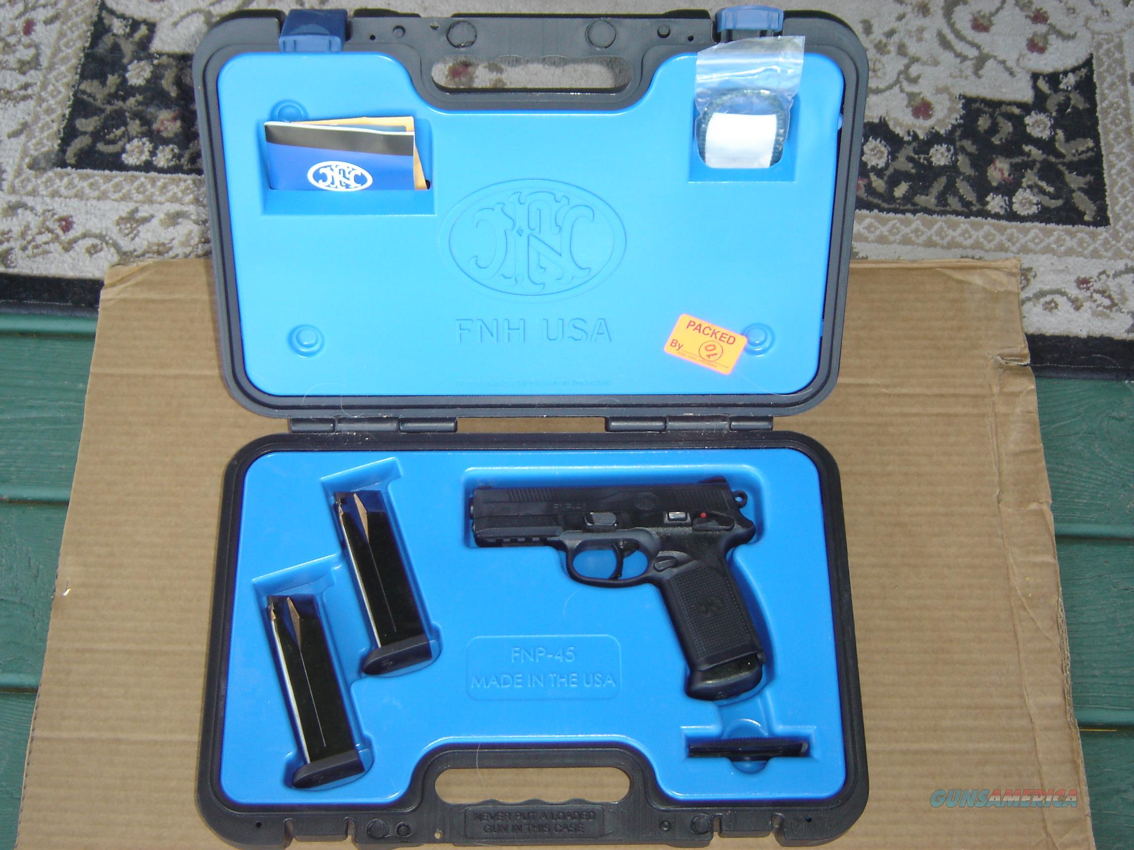 FNP-45 WITH CARRY CASE & 3 MAGS.  Guns > Pistols > FNH - Fabrique Nationale (FN) Pistols > FNP