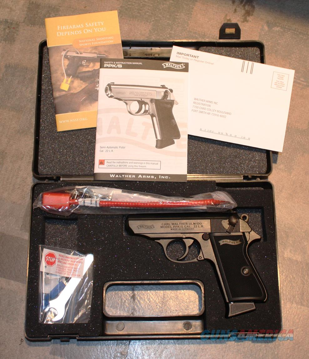 **Walther PPK/S  .22LR  Black **  As New In Box  Guns > Pistols > Walther Pistols > Post WWII > PPK Series