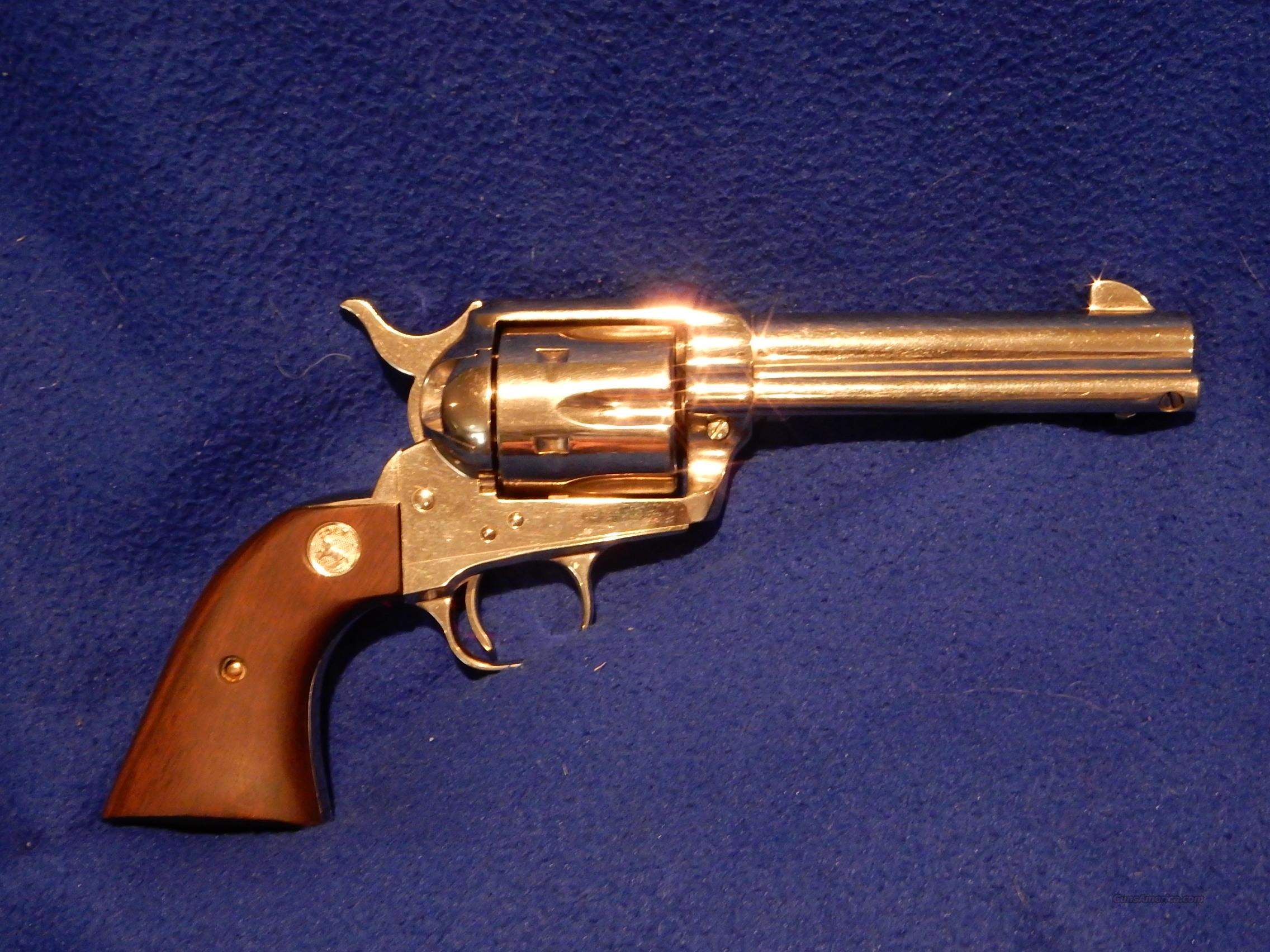 Cot SAA 44-40 4 3/4 Inch Nickel  Guns > Pistols > Colt Single Action Revolvers - 3rd Gen.