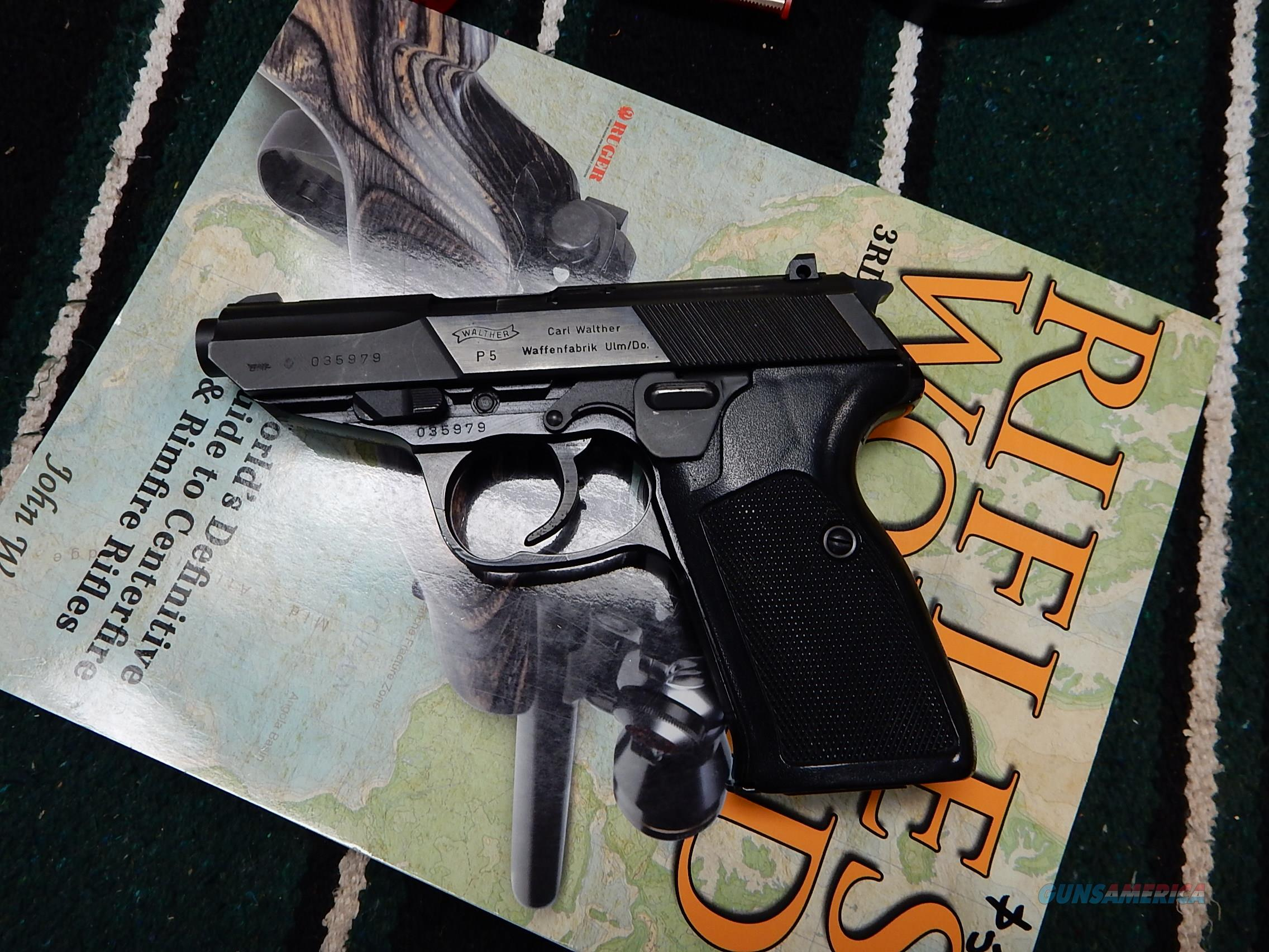 Walther P-5 9mm In The Box  Guns > Pistols > Walther Pistols > Post WWII > P5