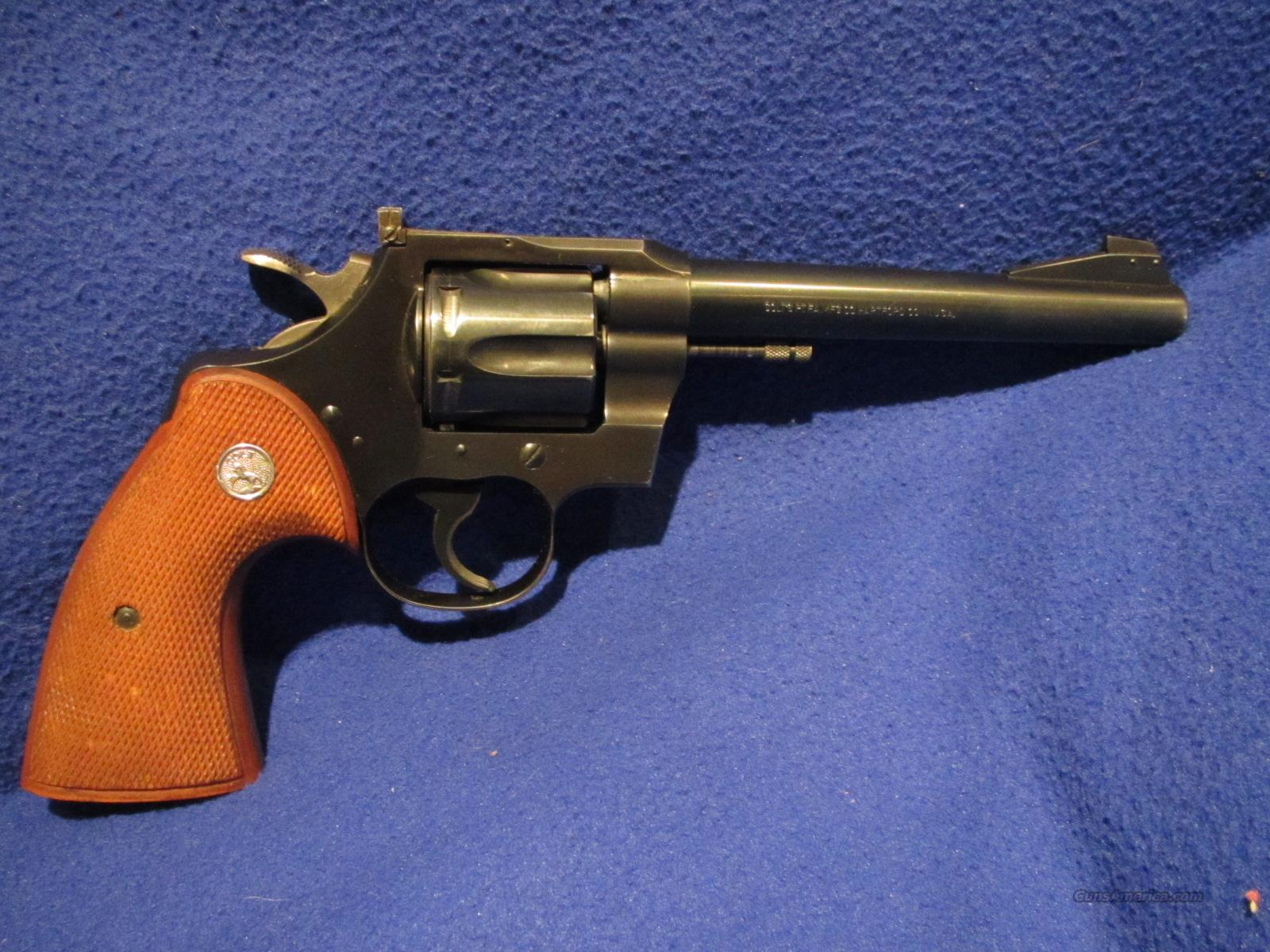 Colt Officers Model Match .22 Minty   Guns > Pistols > Colt Double Action Revolvers- Modern