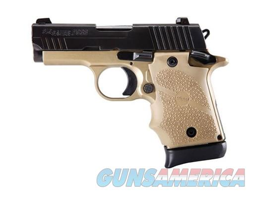 "Sig Sauer P938 Combat FDE 9MM 3"" Barrel Alloy Frame Flat Dark Earth Rubber Grips SIGLITE Night Sights 7Rd Magazine Ambidextrous Safety 938-9-CBT  Guns > Pistols > Sig - Sauer/Sigarms Pistols > P938"