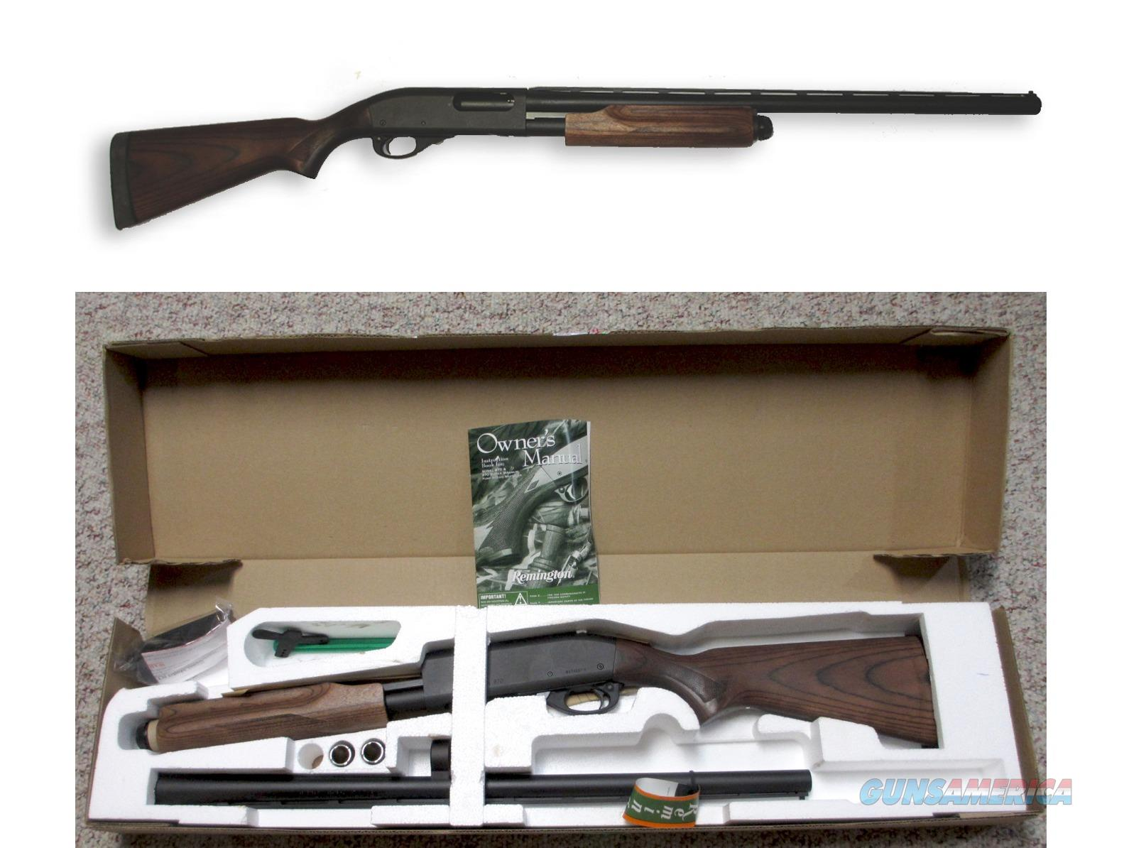 REMINGTON 870 EXPRESS LAMINATE STOCK TRU GLO SIGHT 12GA MODEL: 27040 UPC: 047700270401  Guns > Shotguns > Remington Shotguns  > Pump > Hunting