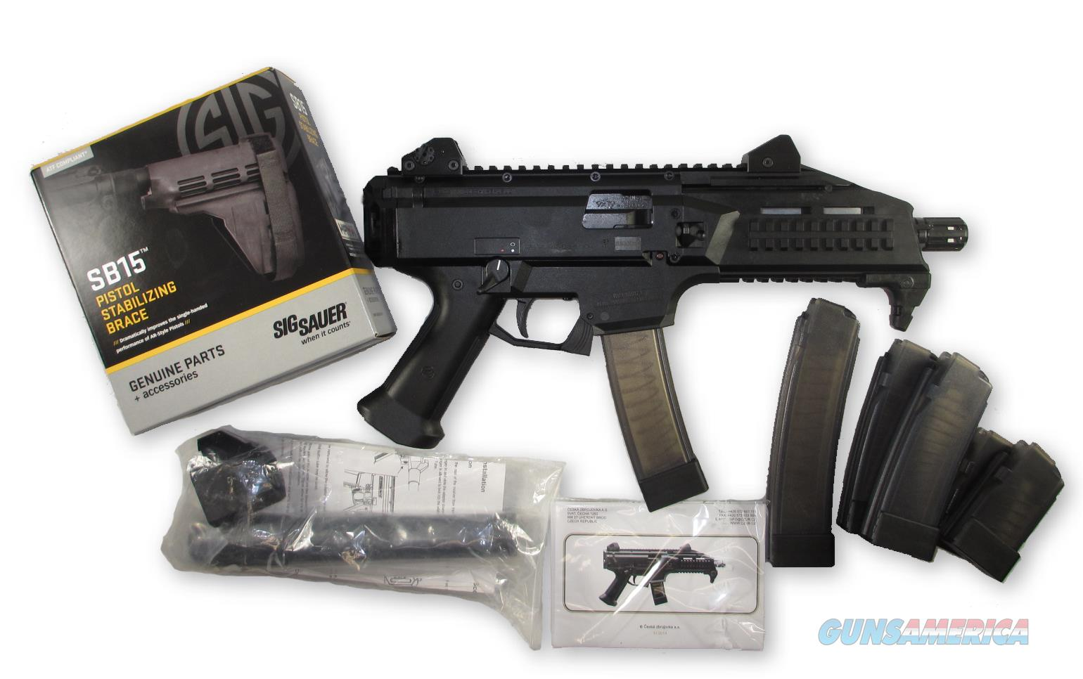 CZ SCORPION EVO 3 S1 PISTOL 9MM + 2 10RD MAGS + 2 30RD MAGS + SIG BRACE + SIG BRACE ADAPTER  Guns > Pistols > CZ Pistols