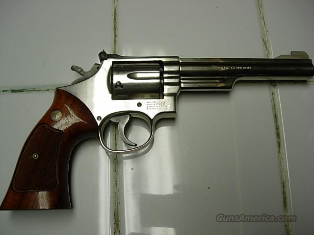 SMITH AND WESSON MODEL 19-5 NICKEL 357 MAG  Guns > Pistols > Smith & Wesson Revolvers > Full Frame Revolver
