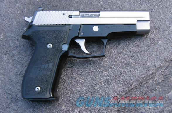 2001 two-tone Sig Sauer P-226 9mm pistol with Trijicon night sights  Guns > Pistols > Sig - Sauer/Sigarms Pistols > P226