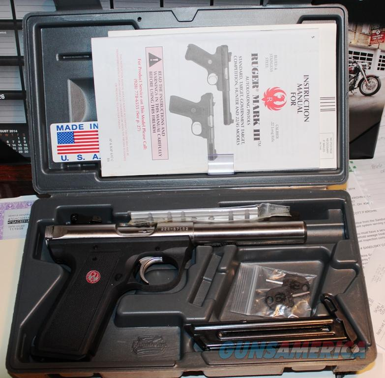 Ruger Mark III 22/45 Stainless Steel Barrel  Guns > Pistols > Ruger Semi-Auto Pistols > Mark I & II Family