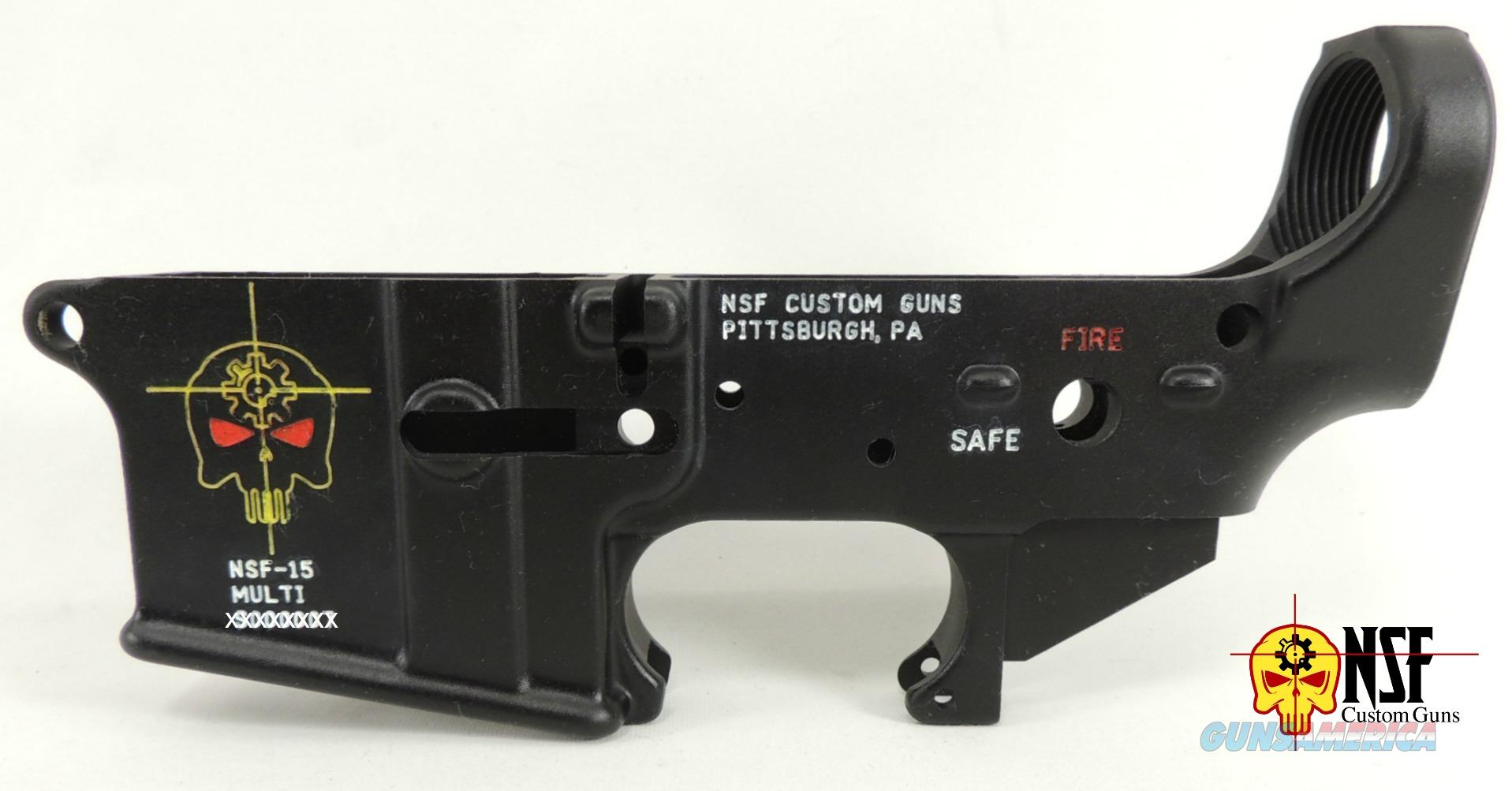 Color Filled NSF Custom Guns AR15 Lower Receiver  Guns > Rifles > AR-15 Rifles - Small Manufacturers > Lower Only