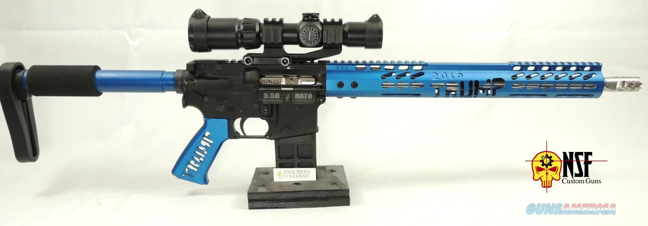 Trump AR-15, Anodized Blue, Nickel BCG, Stainless Barrel, 1-4 Scope, Aero Lower  Guns > Rifles > AR-15 Rifles - Small Manufacturers > Complete Rifle
