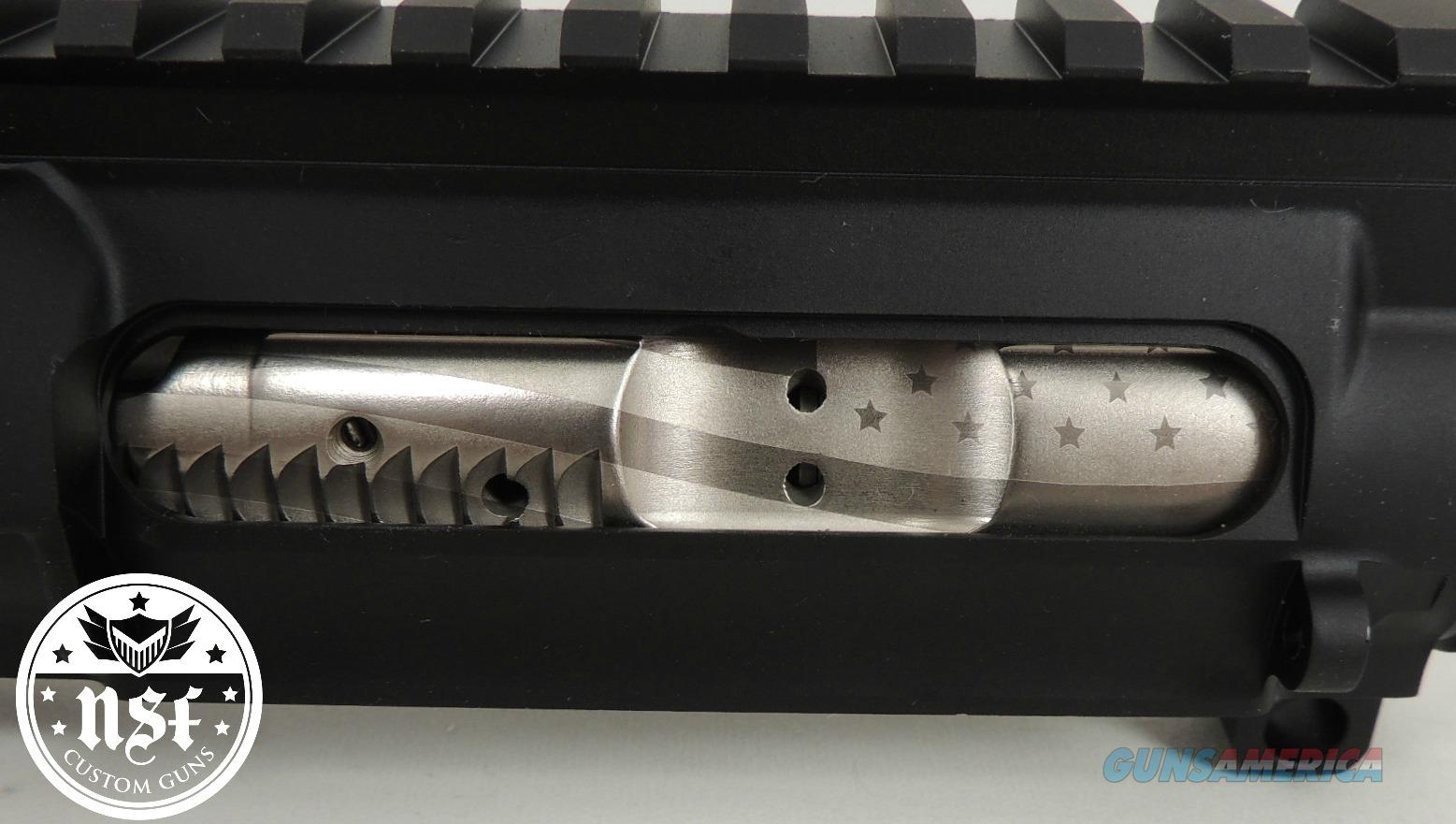 NSF Custom Guns 5.56 Nickel Boron Coated Bolt Carrier Group with Flag Engraving  Non-Guns > Gun Parts > M16-AR15 > Upper Only