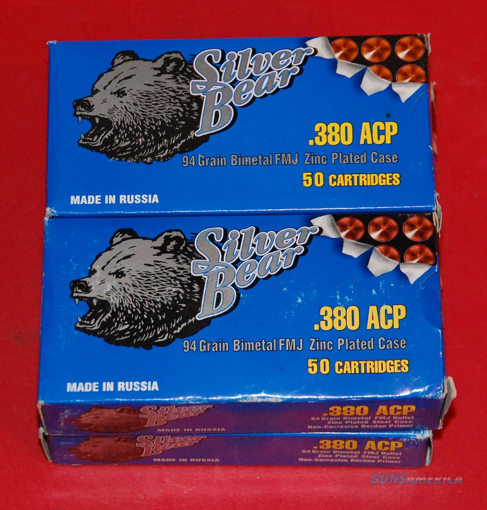"200 rounds of Russian Ammo ""Silver Bear"" .380ACP  Non-Guns > Ammunition"