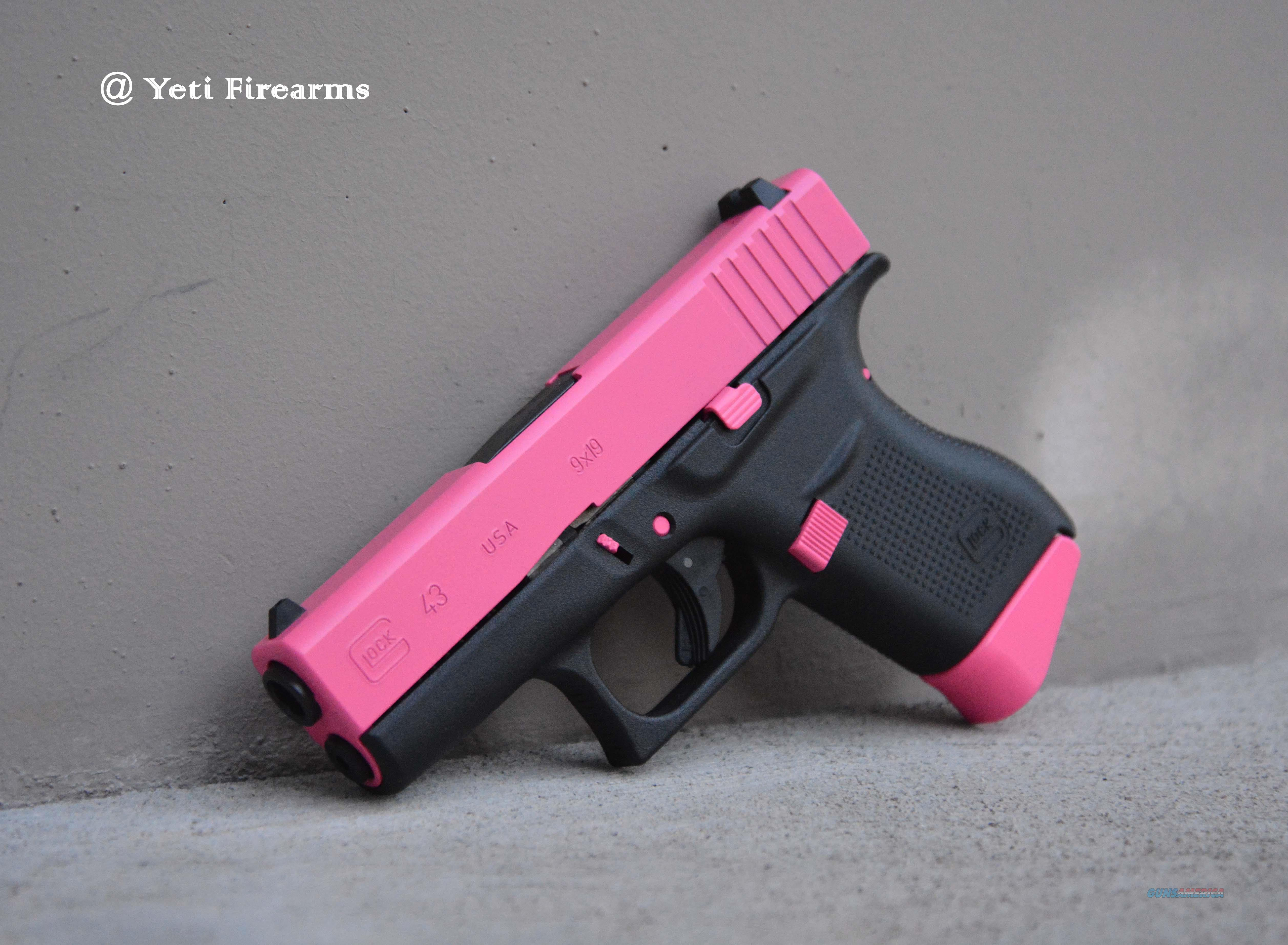 X-Werks Glock 43 Hot Pink 9mm 2 Mags No CC Fee  Guns > Pistols > Glock Pistols > 43