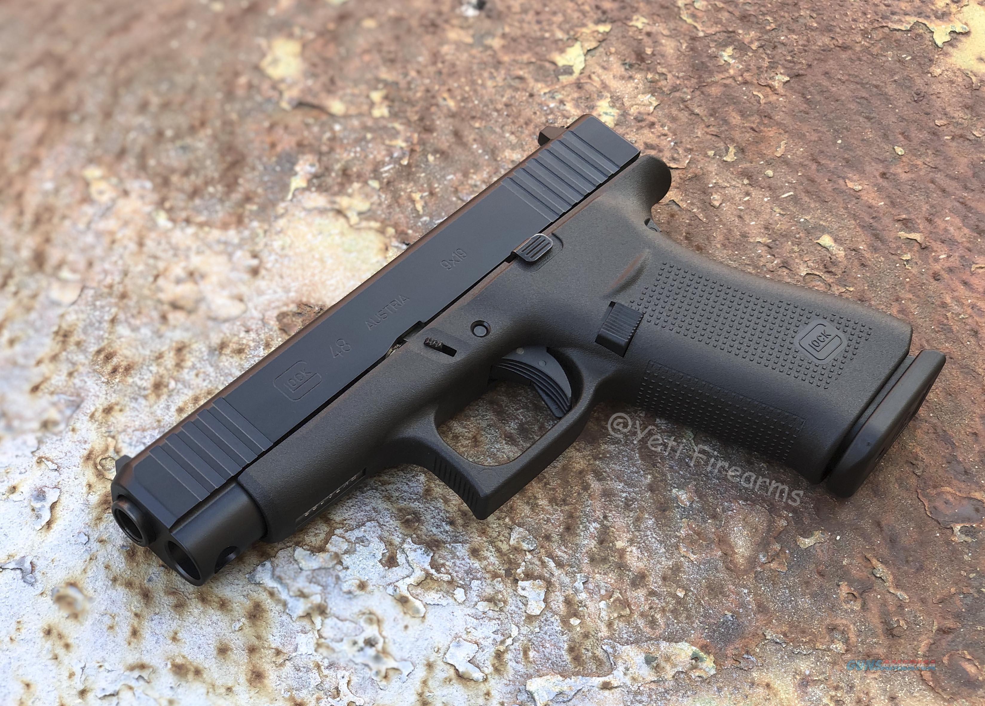 Glock 48 9mm G5 Black Cerakote Slide No CC Fee  Guns > Pistols > Glock Pistols > 48