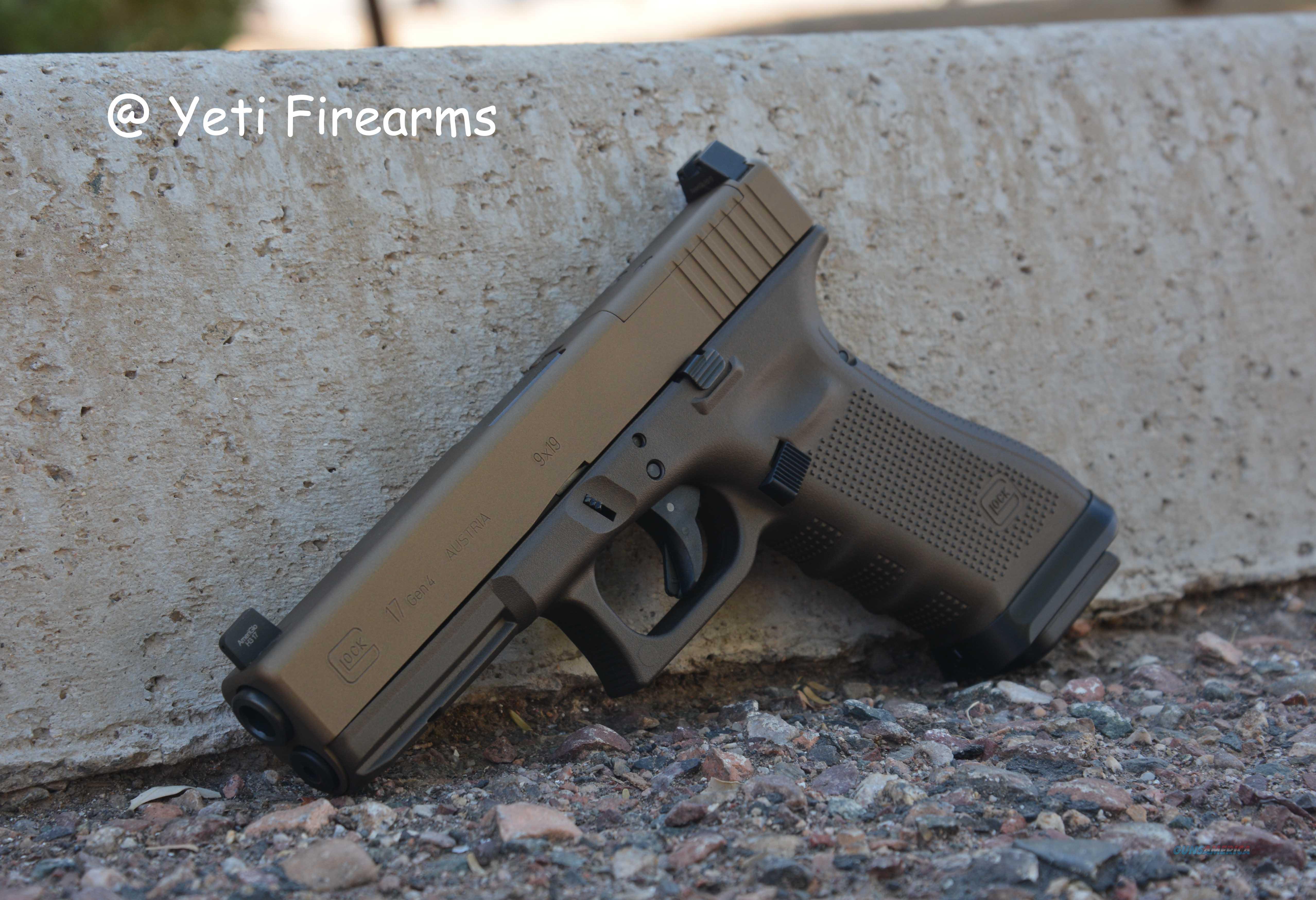 Glock 17 G4 MOS 9mm Burnt / Midnight Bronze + NS  Guns > Pistols > Glock Pistols > 17