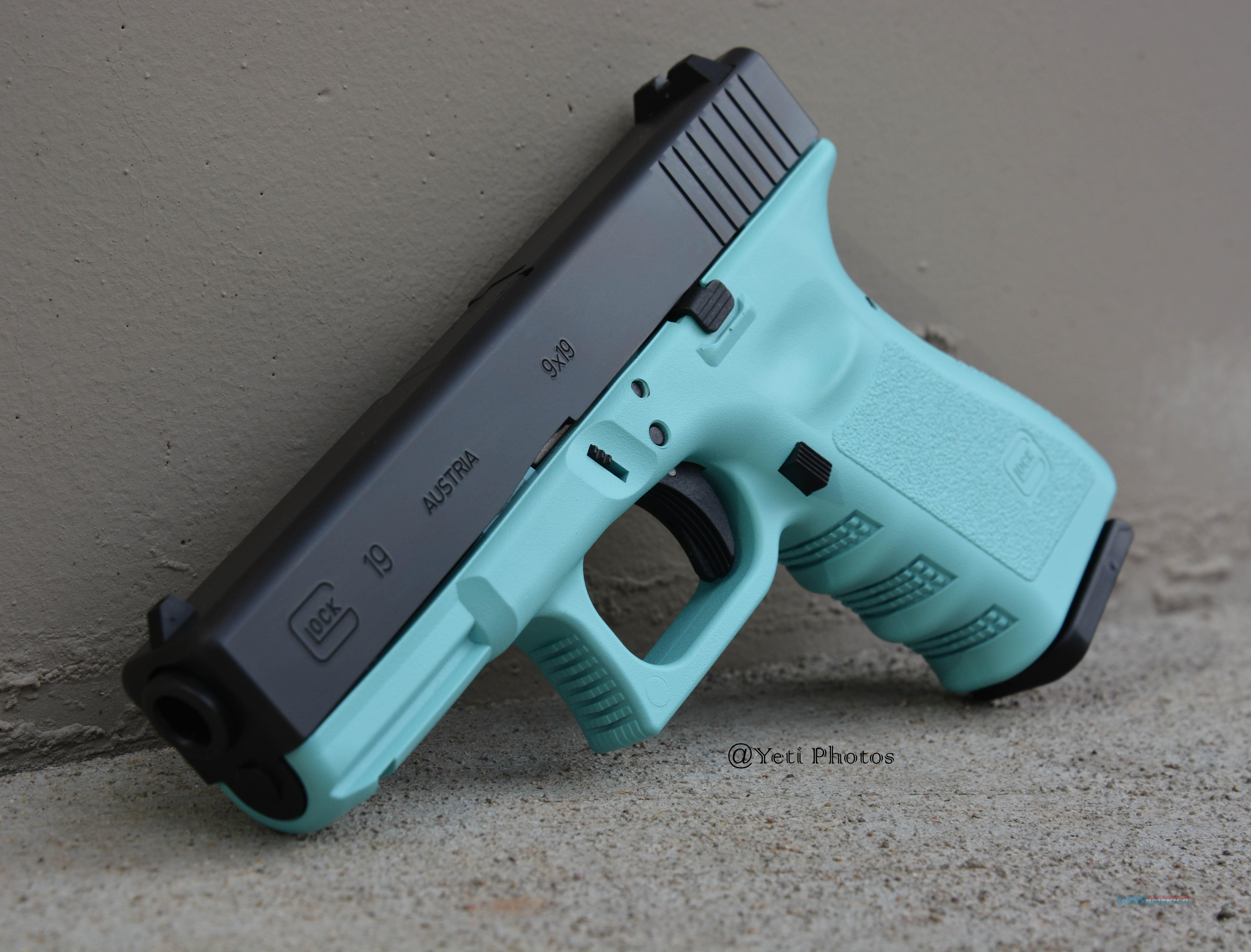 X-Werks Glock 19 G3 9mm robin's egg blue No CC Fee  Guns > Pistols > Glock Pistols > 19