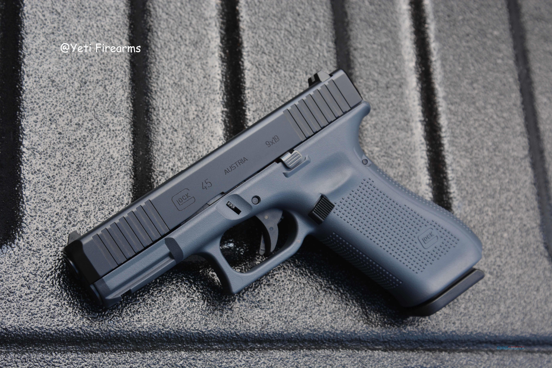 Glock G45 9mm Glock Gray Cerakote No CC Fee 17rnd  Guns > Pistols > Glock Pistols > 45