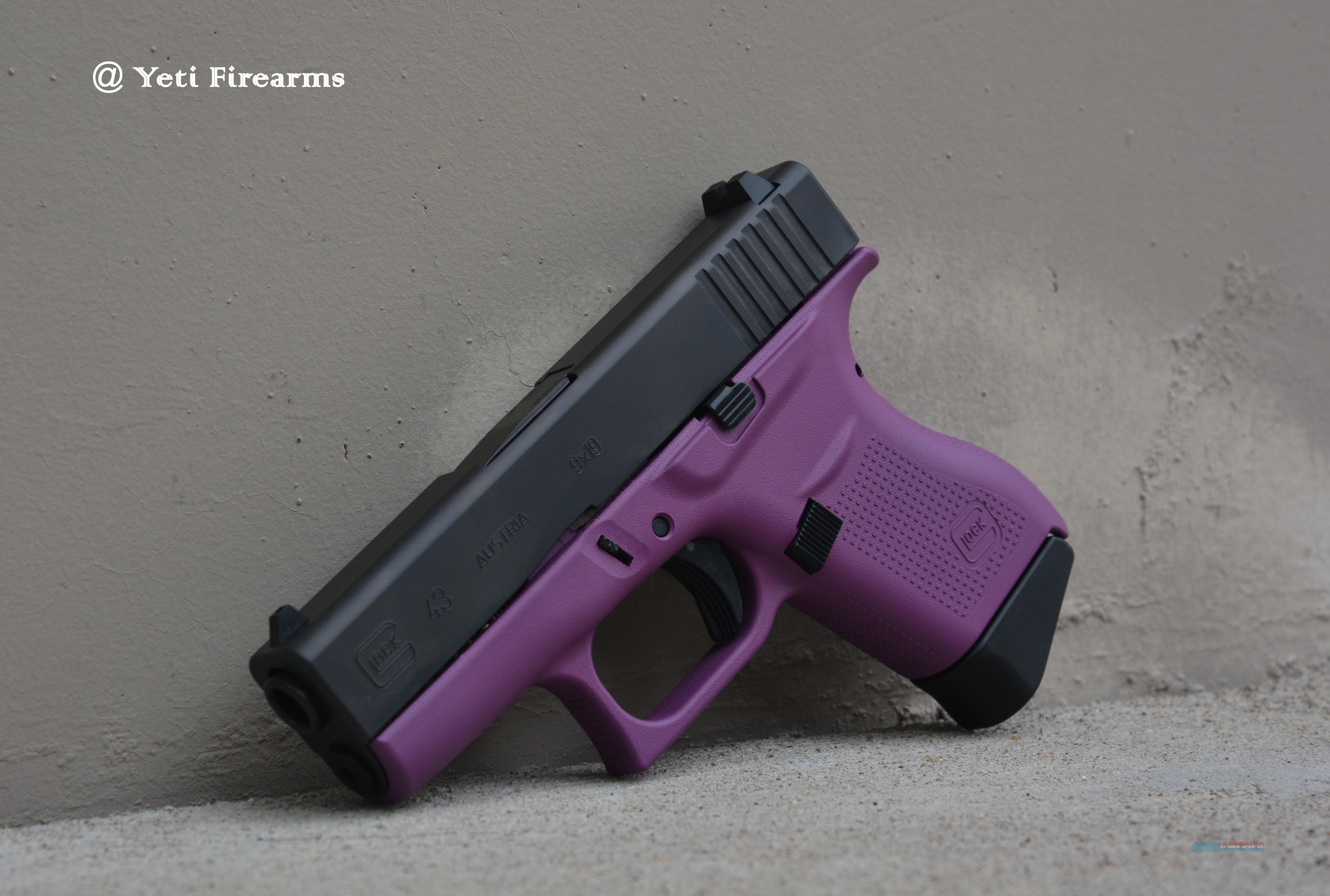 X-Werks Glock 43 9mm Wild Purple 2 Mags No CC Fee  Guns > Pistols > Glock Pistols > 43