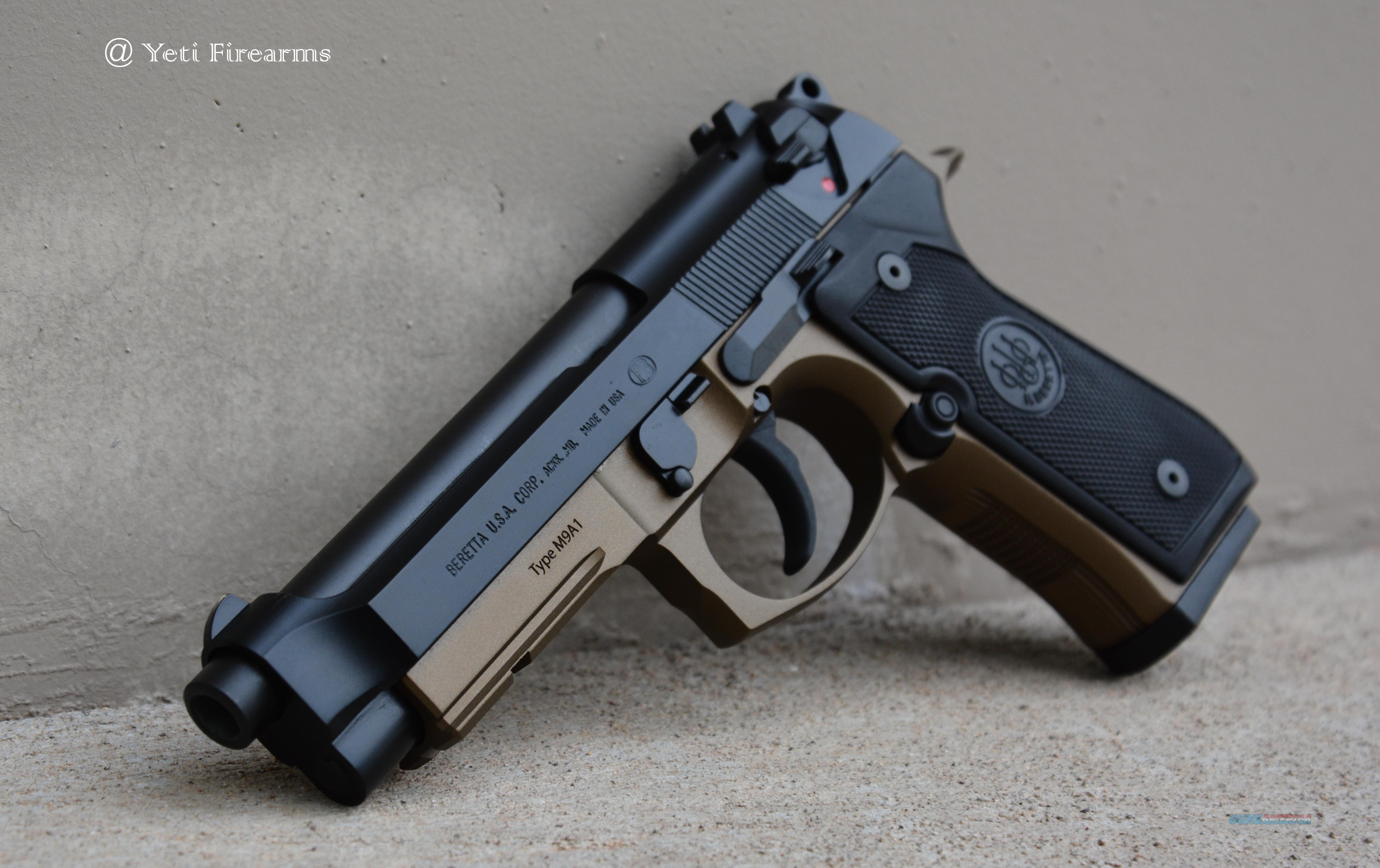 X-Werks Burnt Bronze Beretta M9A1 9mm 15rnd 92 M9  Guns > Pistols > Beretta Pistols > Model 92 Series