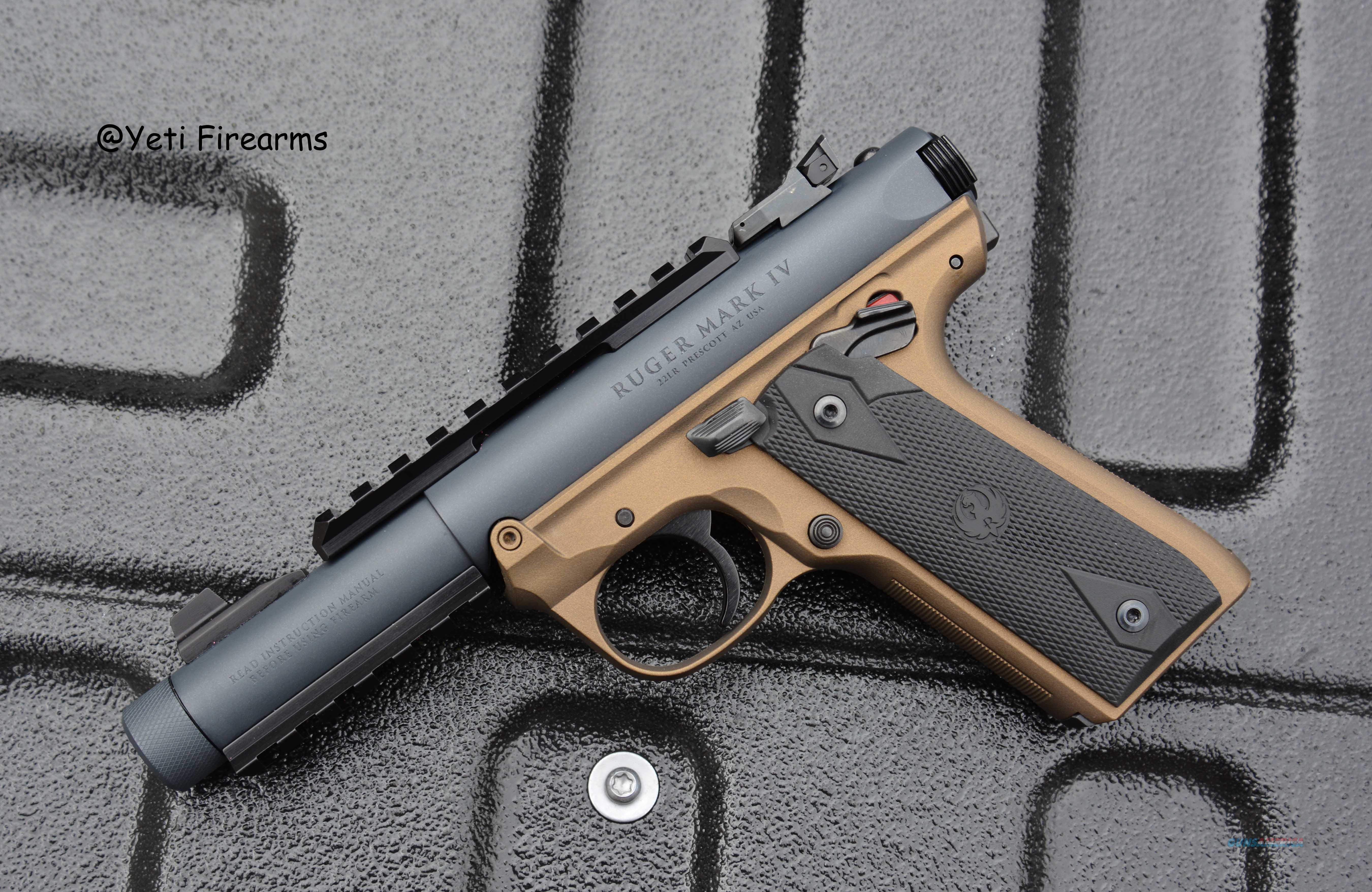 Ruger Mark IV 22/45 Tactical .22 LR Gray / Bronze  Guns > Pistols > Heckler & Koch Pistols > Polymer Frame