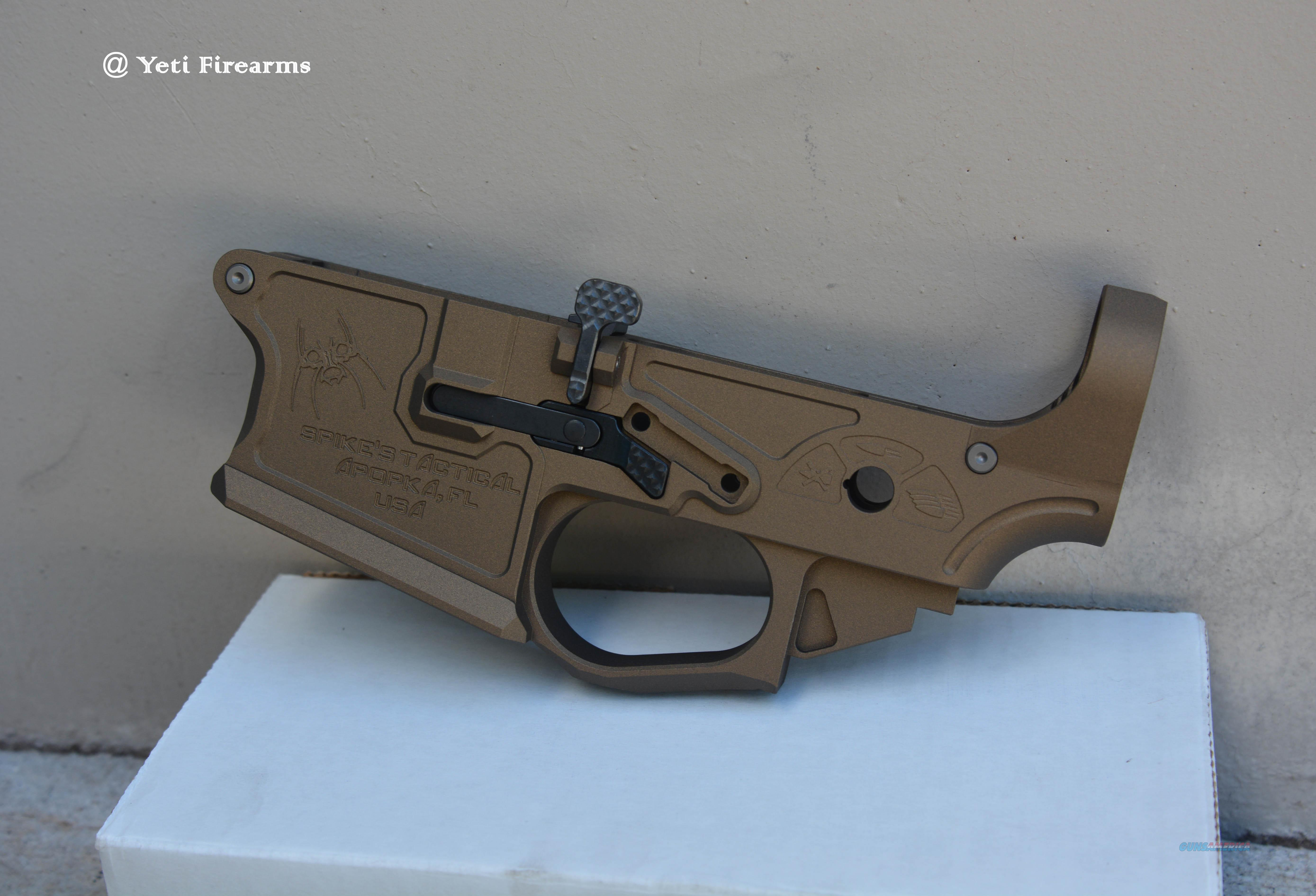 X-Werks Burnt Bronze Spikes Gen 2 Billet Lower AR AR-15 5.56mm STLB200 Cerakote No CC Fee Tactical  Guns > Rifles > AR-15 Rifles - Small Manufacturers > Lower Only