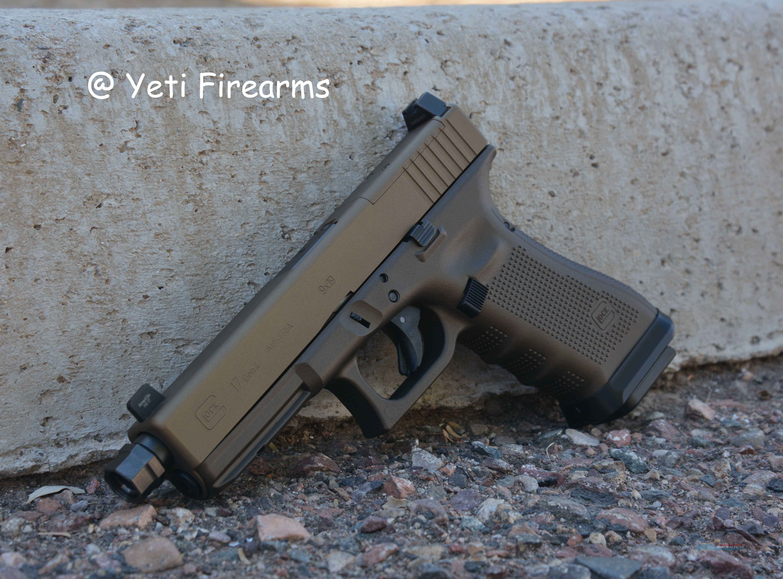 Glock 17 G4 MOS 9mm Burnt / Midnight Bronze Agency  Guns > Pistols > Glock Pistols > 17