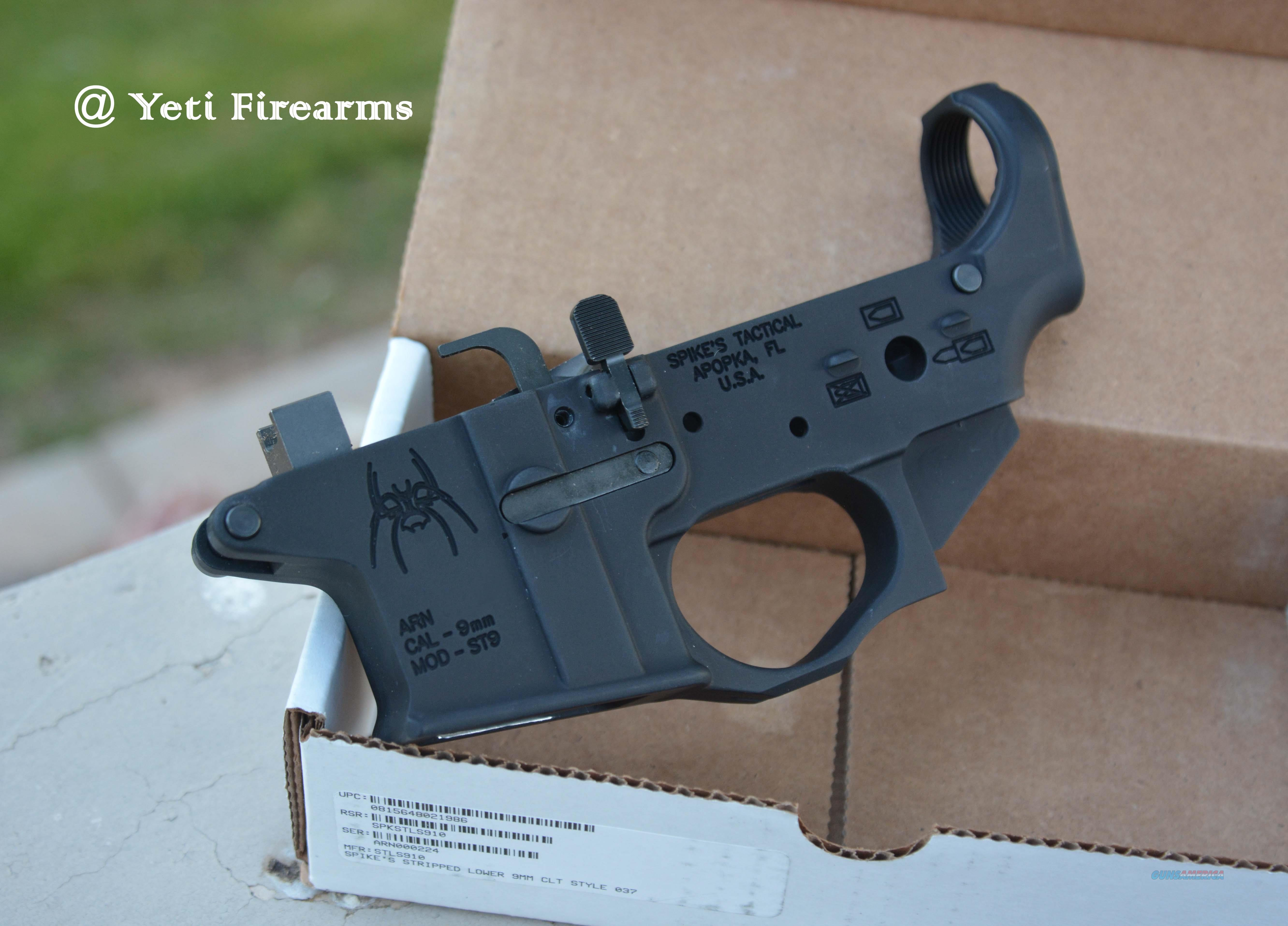 Spikes Tactical 9mm Colt Mag Lower #STLS910  Guns > Rifles > AR-15 Rifles - Small Manufacturers > Lower Only