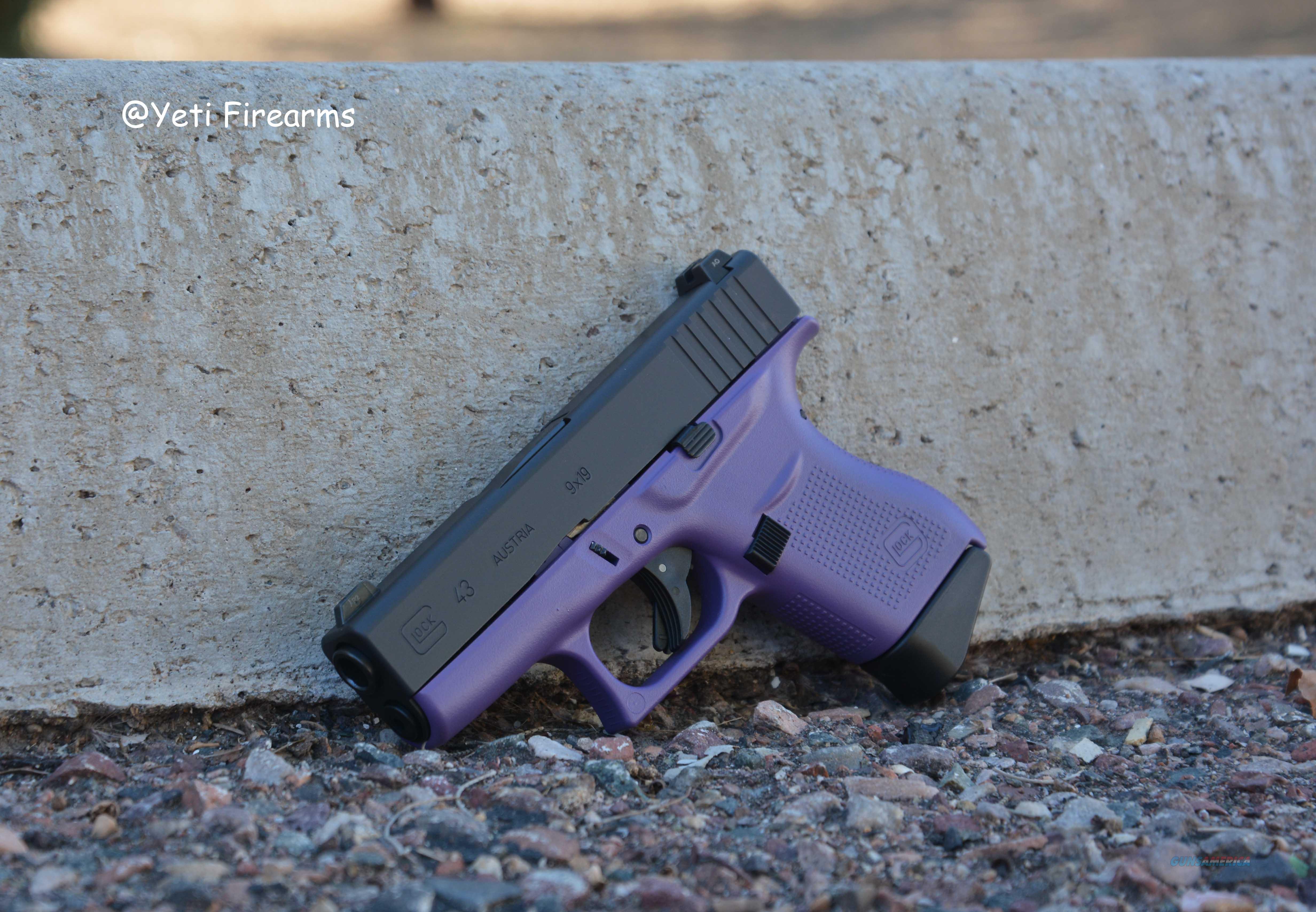 Glock 43 Purple W/ Glock Night Sights 9mm  Guns > Pistols > Glock Pistols > 43/43X