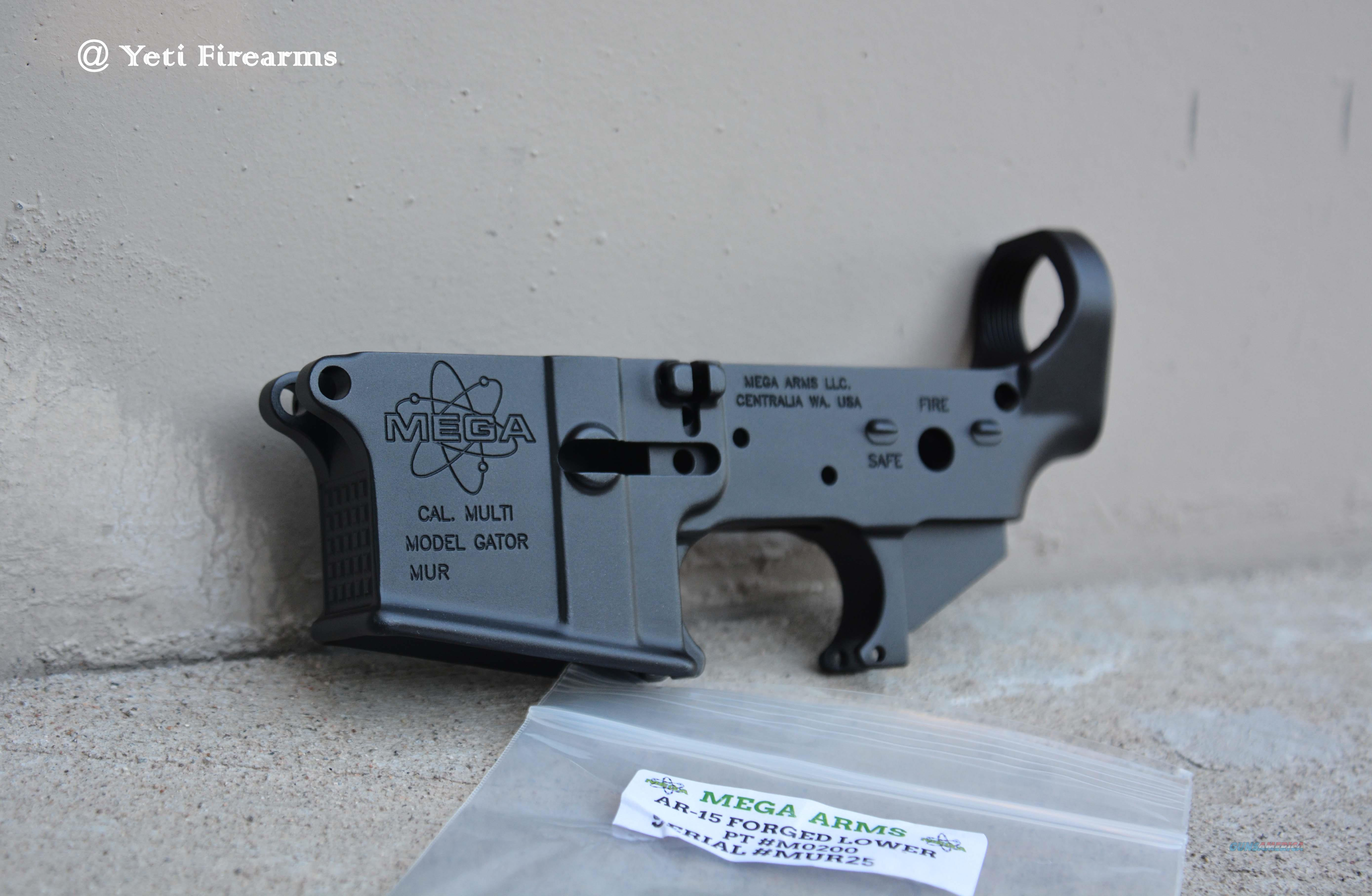 Mega Arms Forged AR-15 Lower Stripped M0200 Gator  Guns > Rifles > AR-15 Rifles - Small Manufacturers > Lower Only