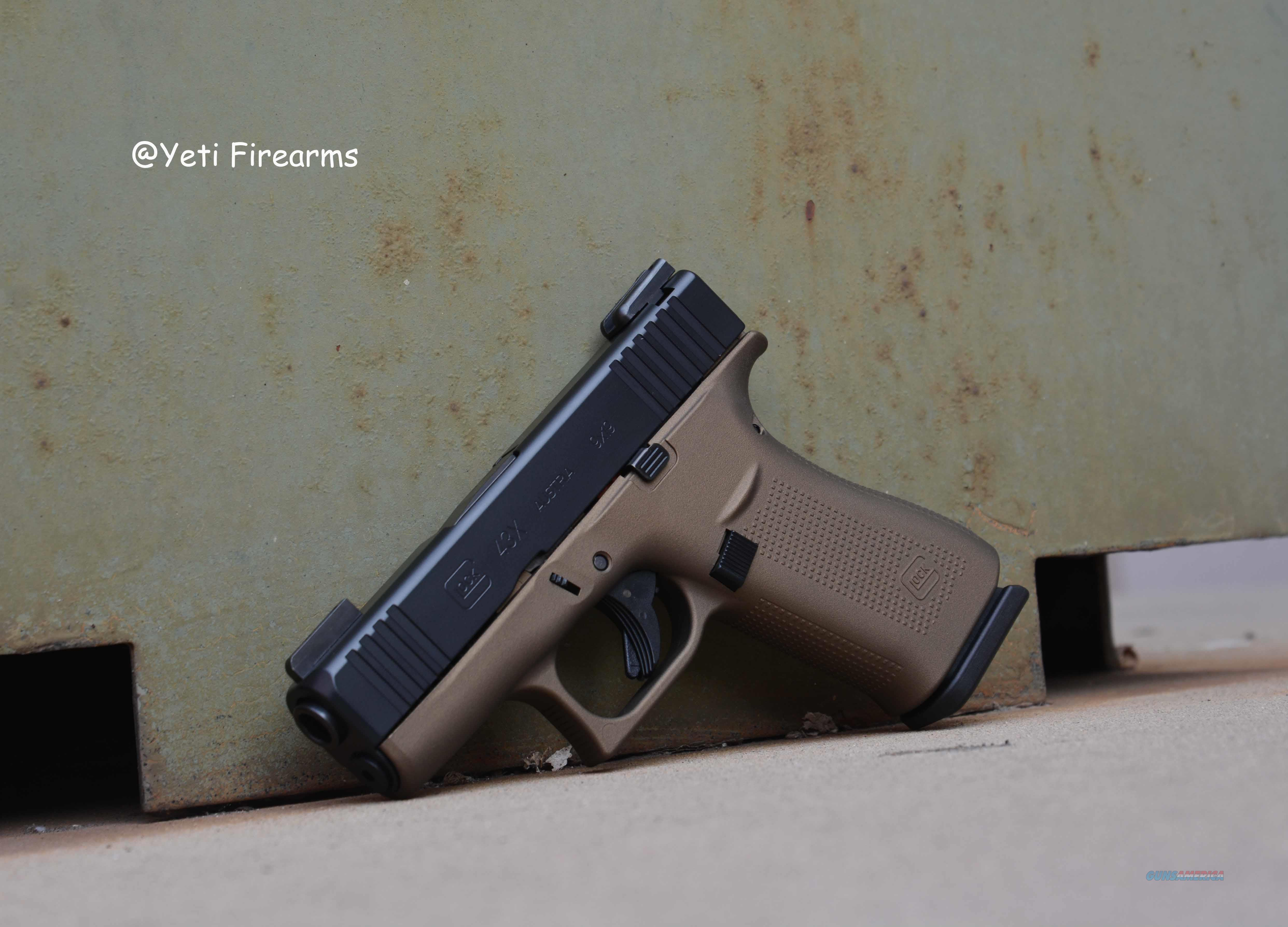 Glock 43X 9mm G5 Black & Burnt Bronze W/ TFX NS  Guns > Pistols > Glock Pistols > 43/43X