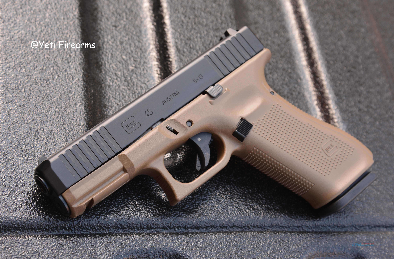 Glock G45 9mm Glock FDE Cerakote No CC Fee 17rnd  Guns > Pistols > Glock Pistols > 45