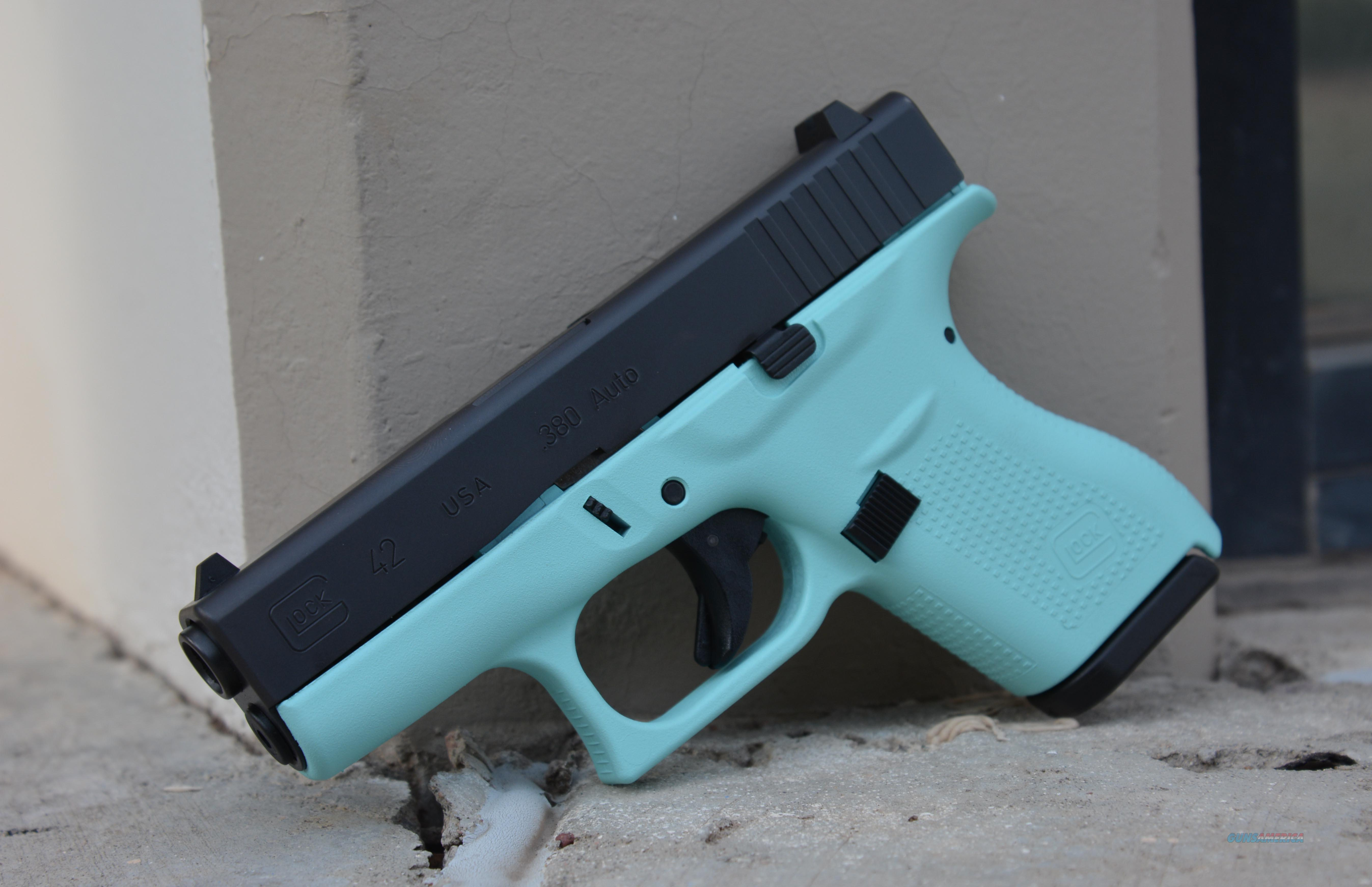 X-Werks Glock 42 Tiffany Blue .380 No CC Fee  Guns > Pistols > Glock Pistols > 42