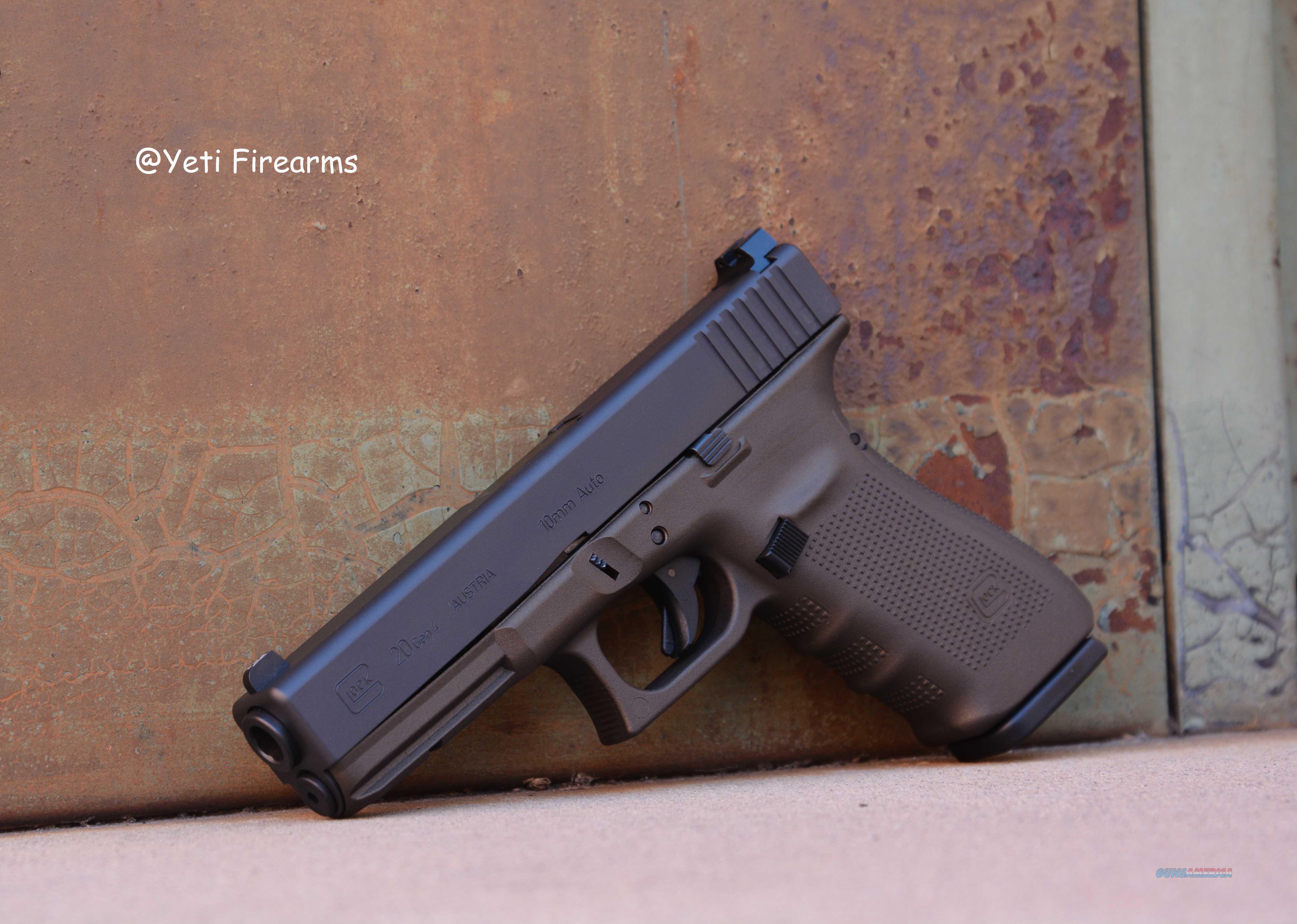 Glock 20 G4 10mm Midnight Bronze Trijicon HD XR NS  Guns > Pistols > Glock Pistols > 20/21