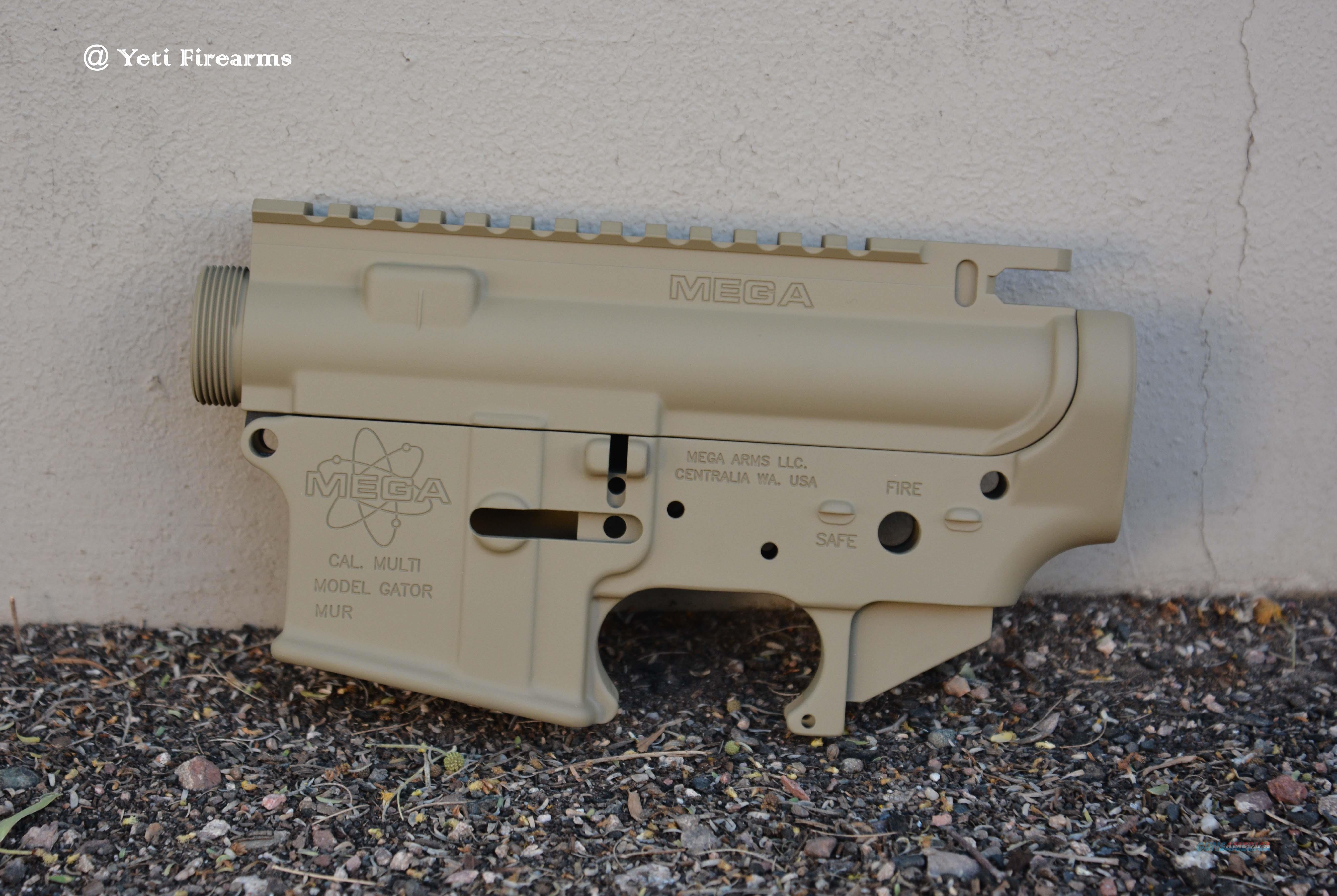 X-Werks Mega Arms Forged Receiver Set Coyote Tan M0017 M0200 Upper Lower 5.56 CT Cerakote  Guns > Rifles > AR-15 Rifles - Small Manufacturers > Lower Only