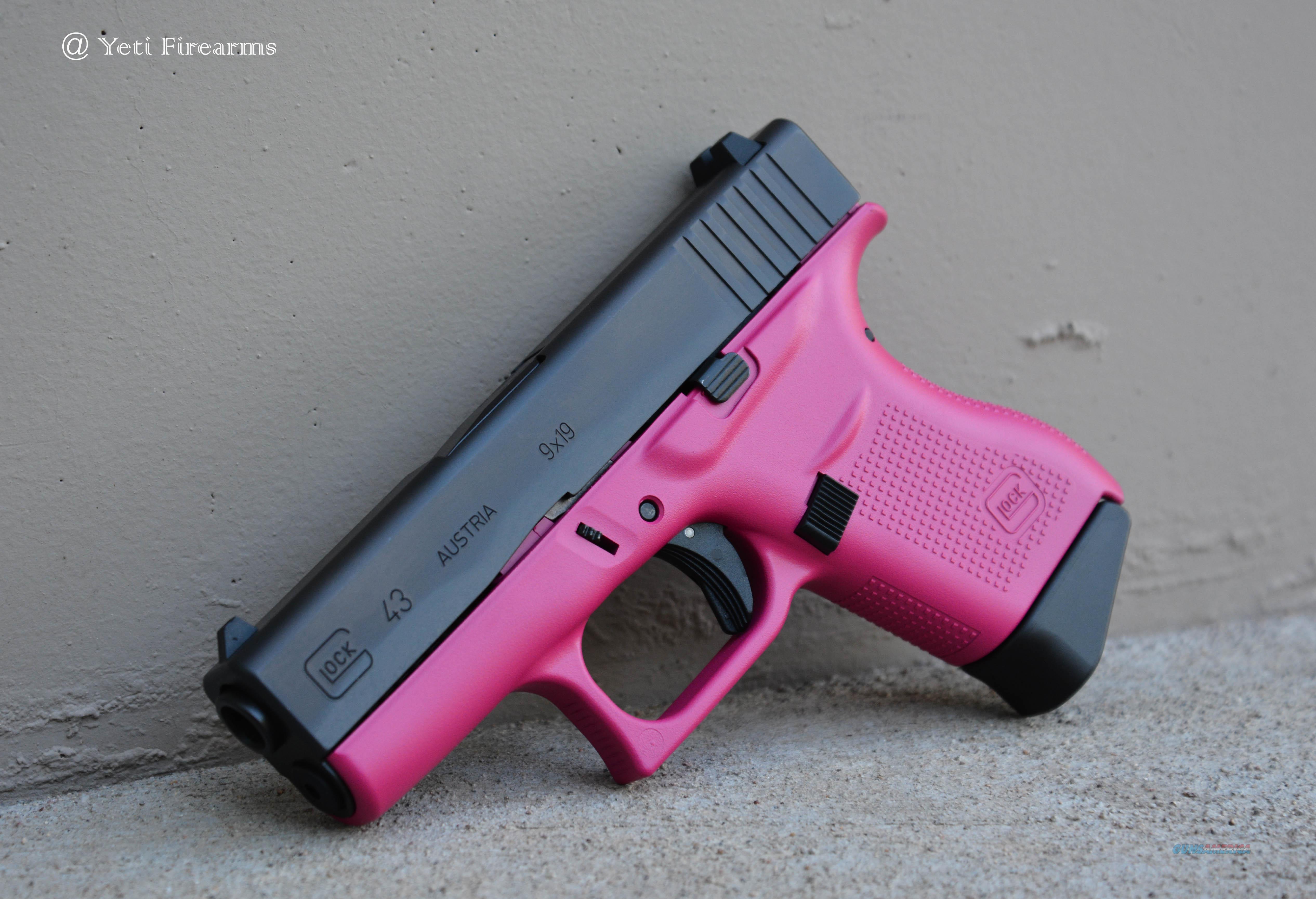 Glock 43 9mm Raspberry Pink NO CC Fee  Guns > Pistols > Glock Pistols > 43/43X